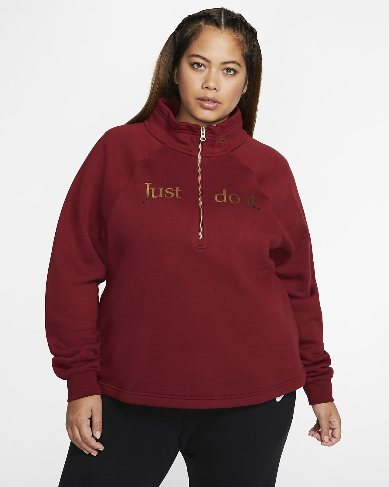 Nike Sportswear Women's 1/2-Zip Fleece Top (Plus Size)