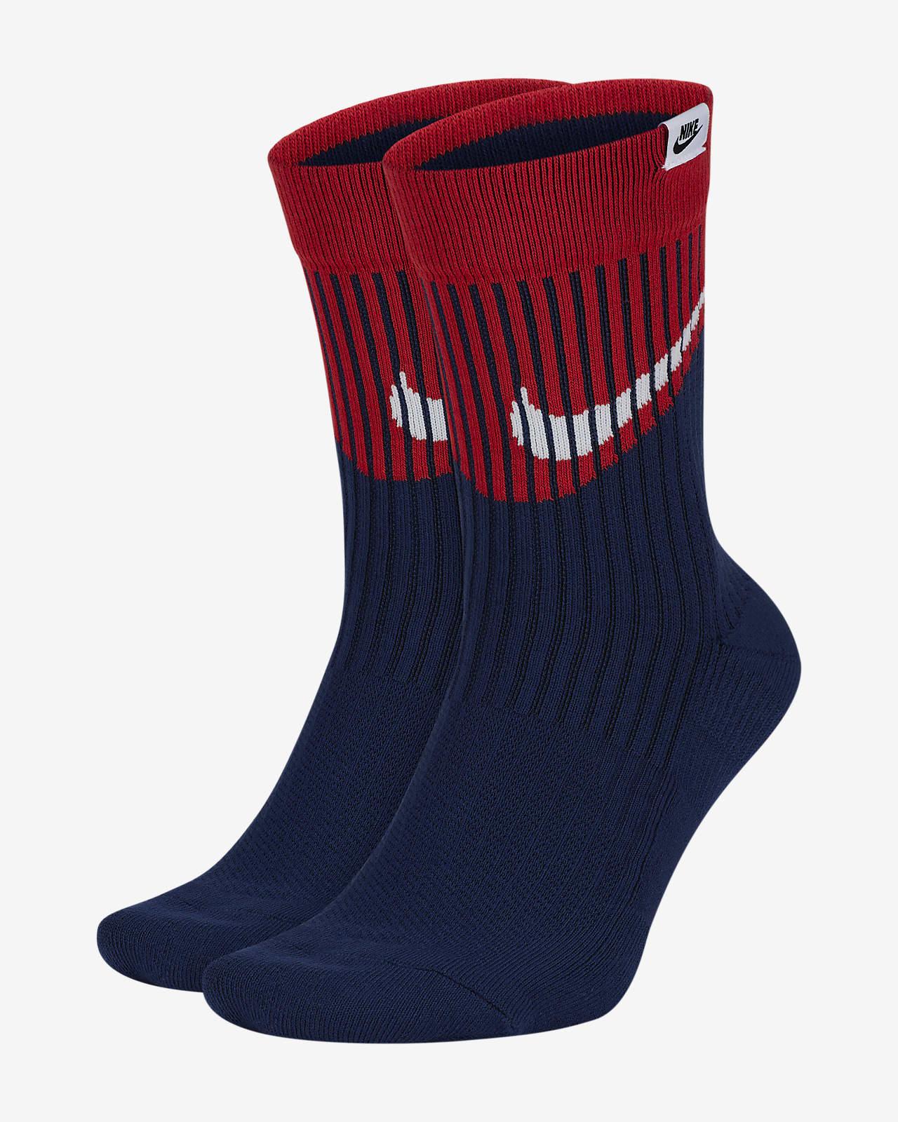 Nike SNEAKR Sox Swoosh Crew Socks (2 Pairs)
