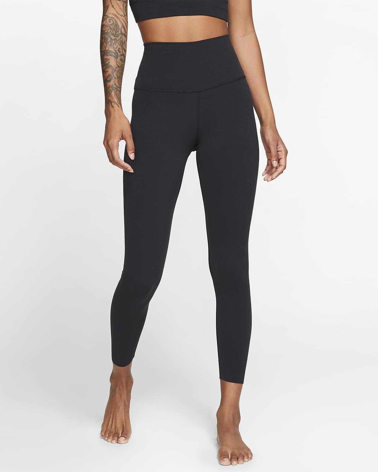 Leggings Infinalon i 7/8-längd med hög midja Nike Yoga Luxe för kvinnor