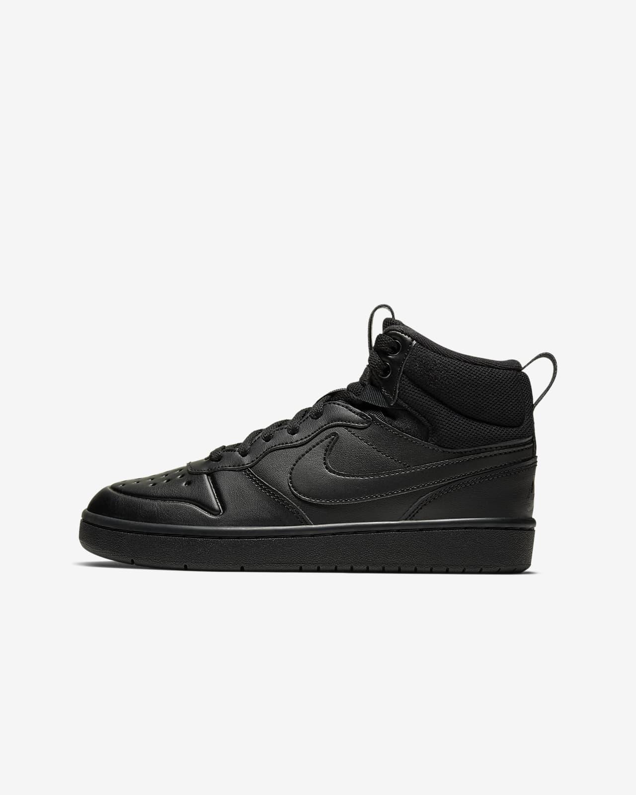 Nike Court Borough Mid 2-støvle til store børn