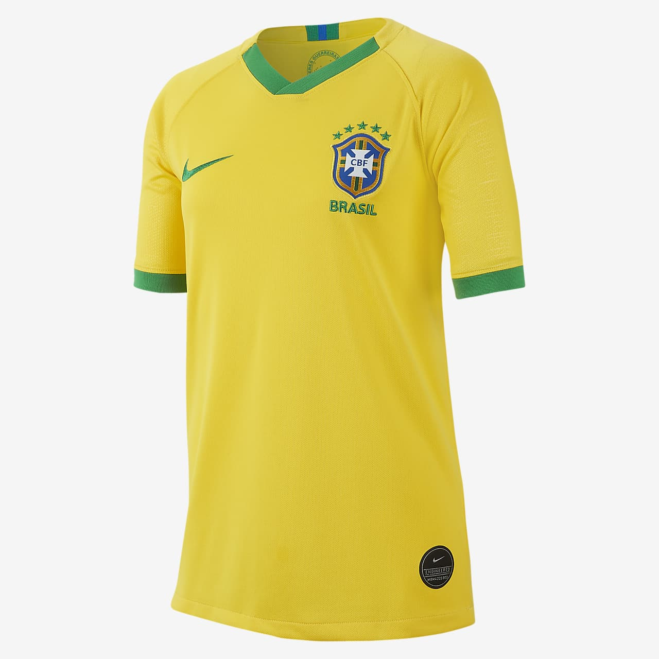 Brasil Stadium 2019 Big Kids' Home Jersey