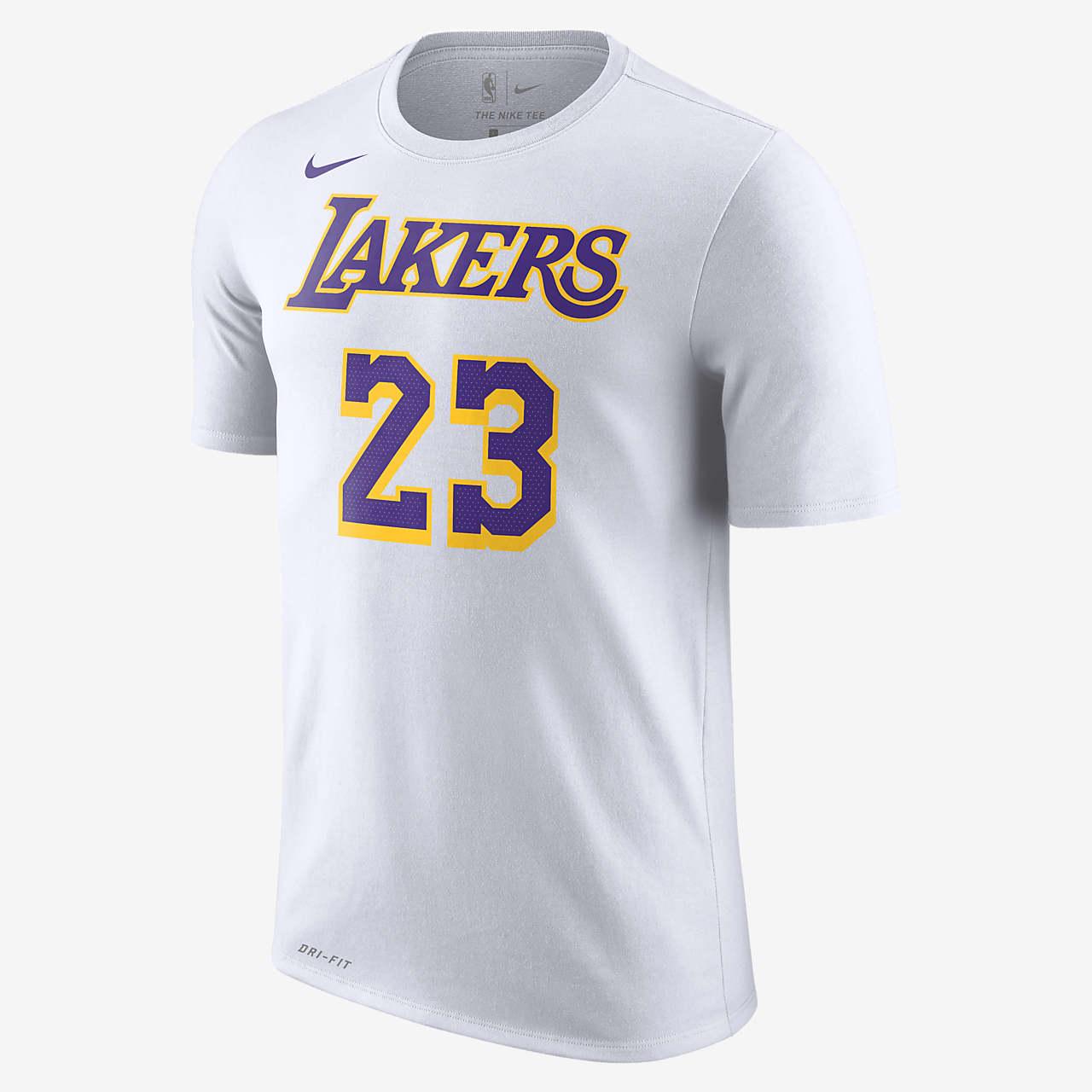 洛杉矶湖人队 (LeBron James)Nike Dri-FITNBA男子T恤