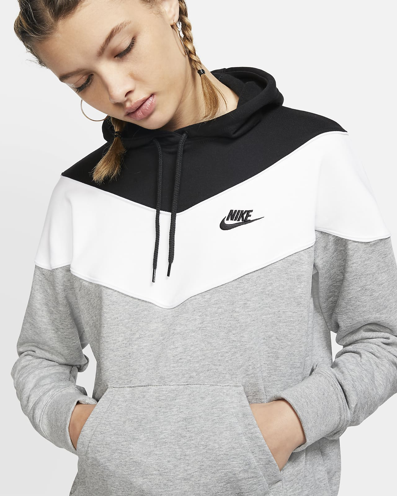 Nike Sportswear CLUB HOODIE Kapuzenpullover whiteblack