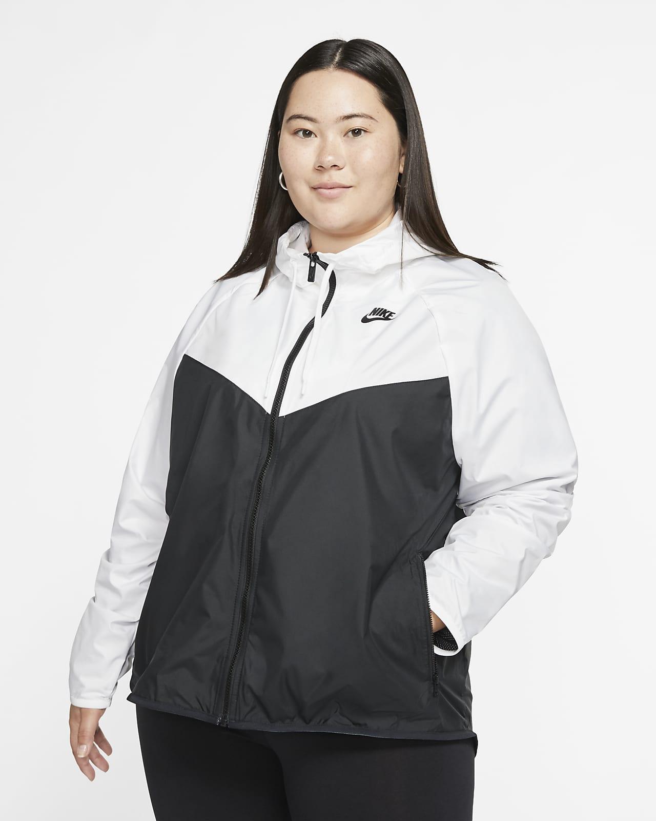 Femme Nike Veste noire avec bande blanche sur la poitrine