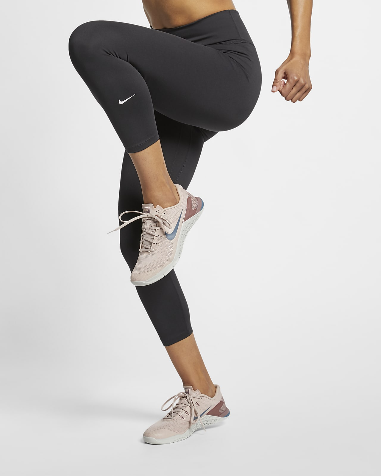 Nike One kort tights med mellomhøyt liv til dame