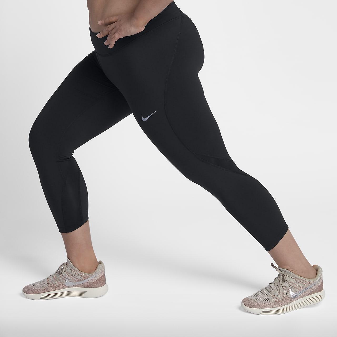 Nike Epic Luxe Lauf-Crop-Leggings für Damen (große Größe)