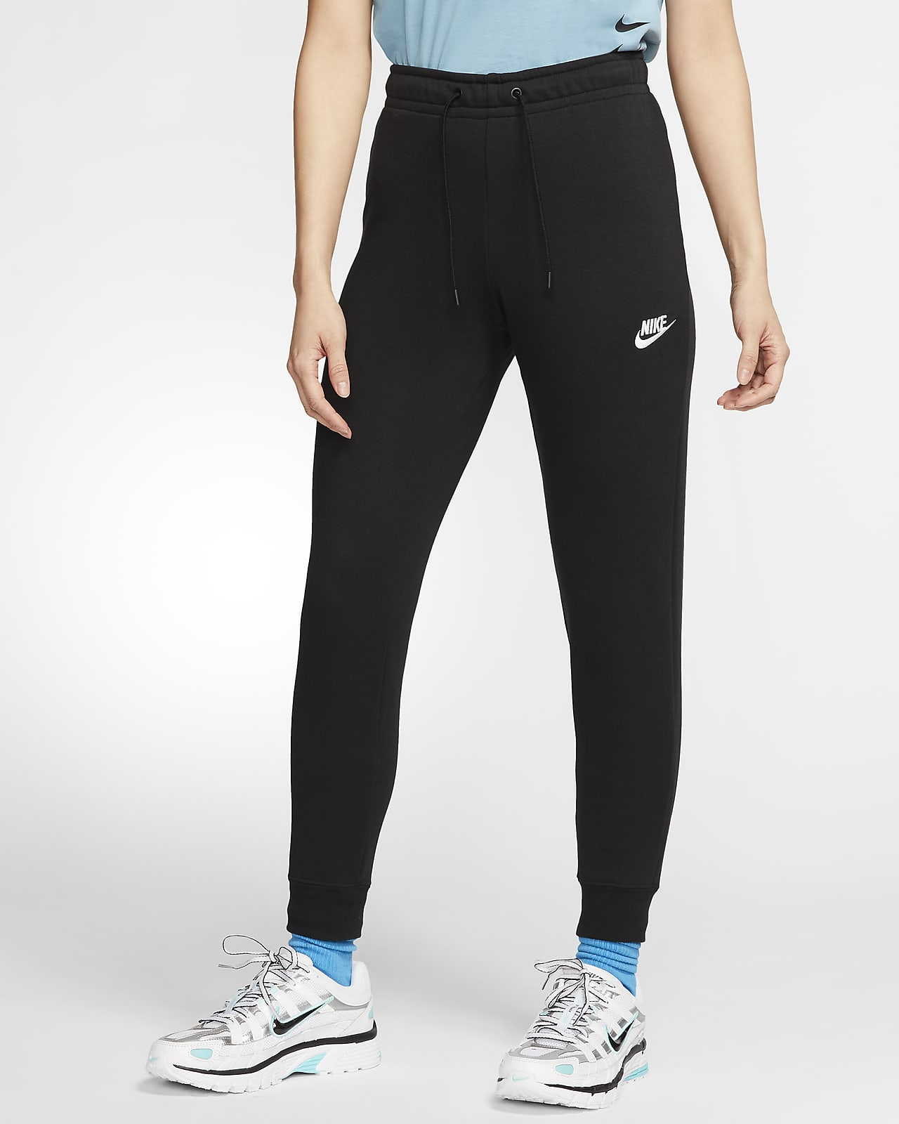Pantalon taille mi-basse en tissu Fleece Nike Sportswear Essential pour Femme