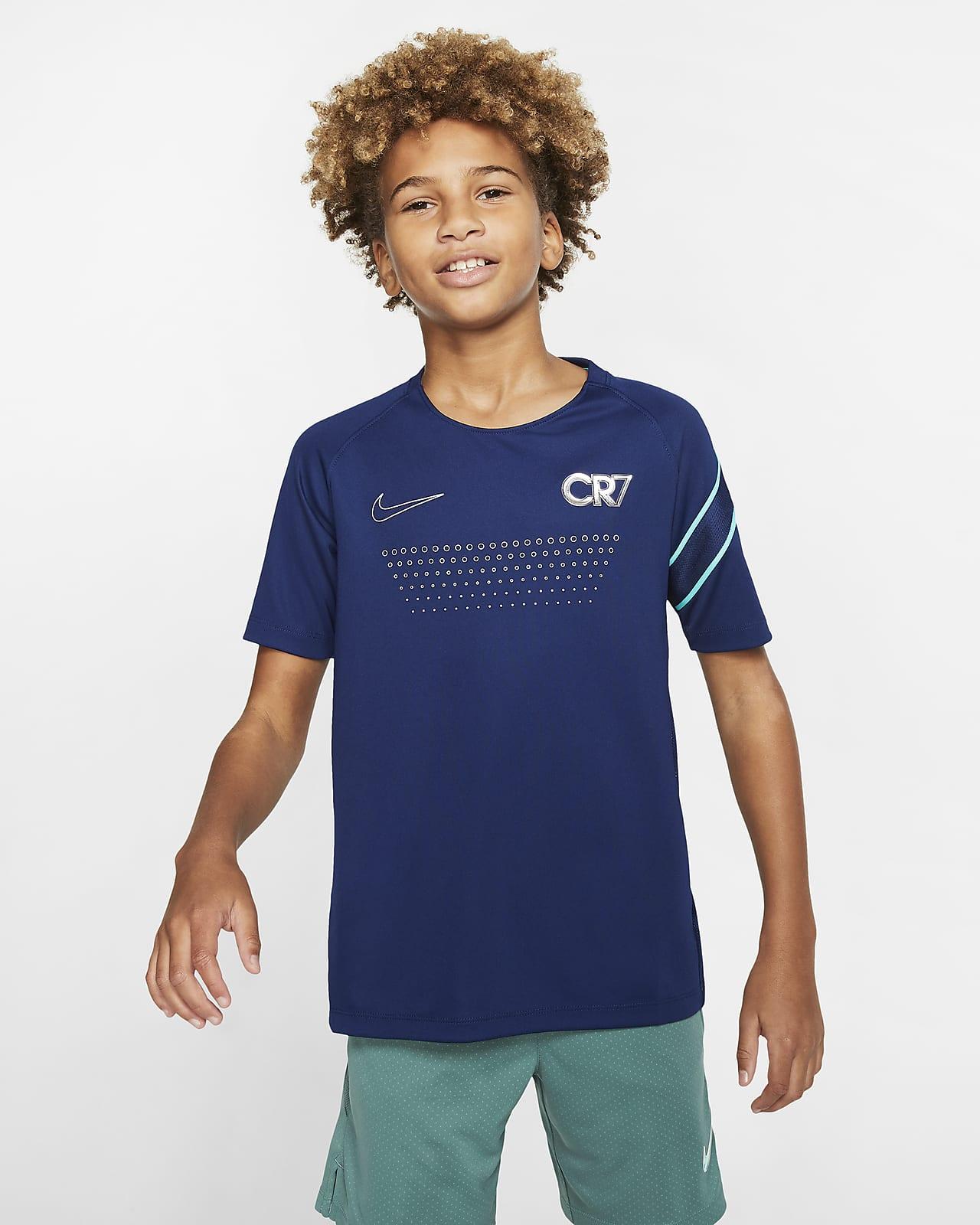 Nike Dri-FIT CR7 Kurzarm-Fußballoberteil für ältere Kinder