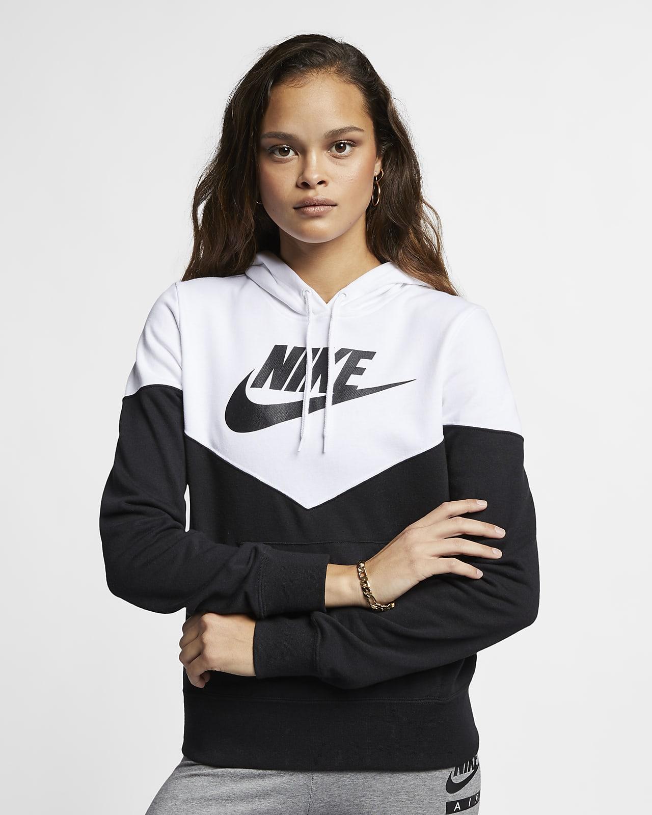 imagina escena para jugar  Sudadera con capucha de tejido Fleece para mujer Nike Sportswear Heritage.  Nike MX