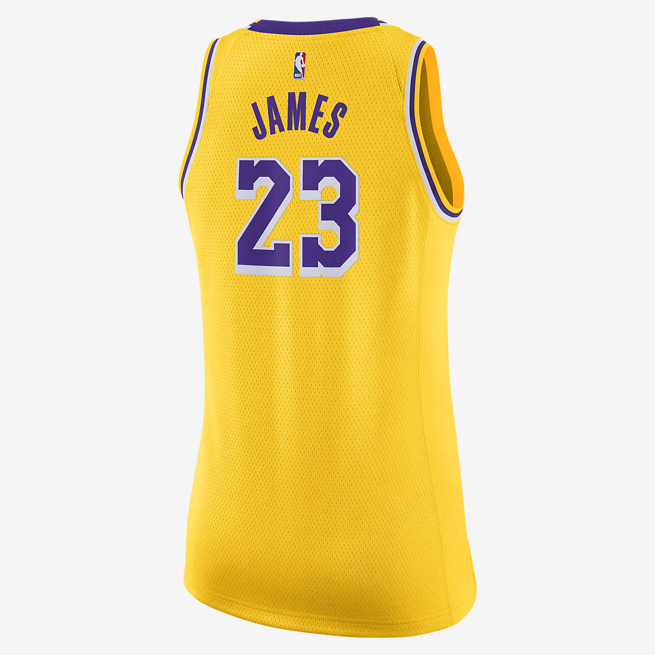 LeBron James Lakers Icon Edition Women's Nike NBA Swingman Jersey ...