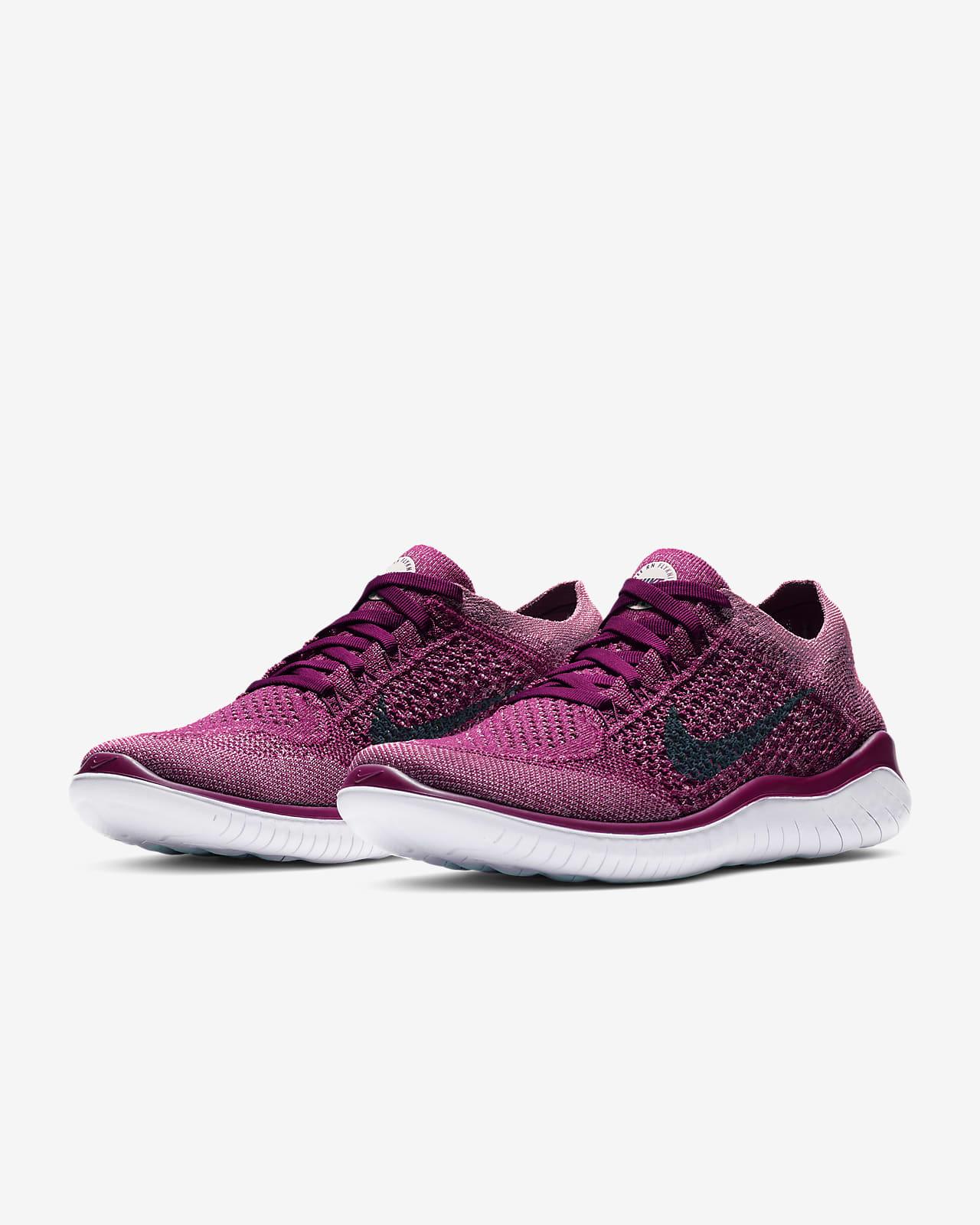 women's free rn flyknit 2018 lace up sneakers