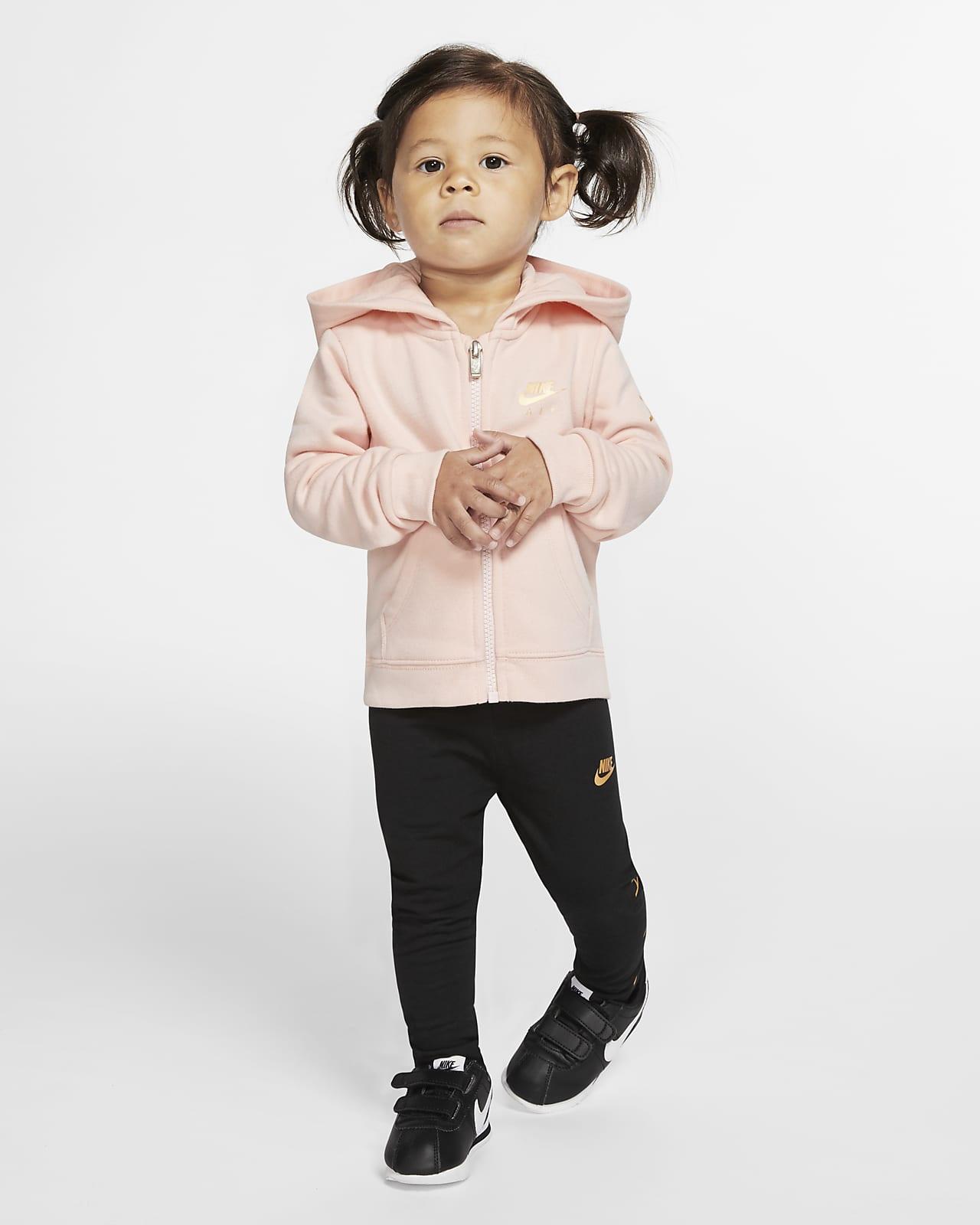 Conjunto de leggings y sudadera con capucha para bebé (de 12 a 24 meses) Nike Air