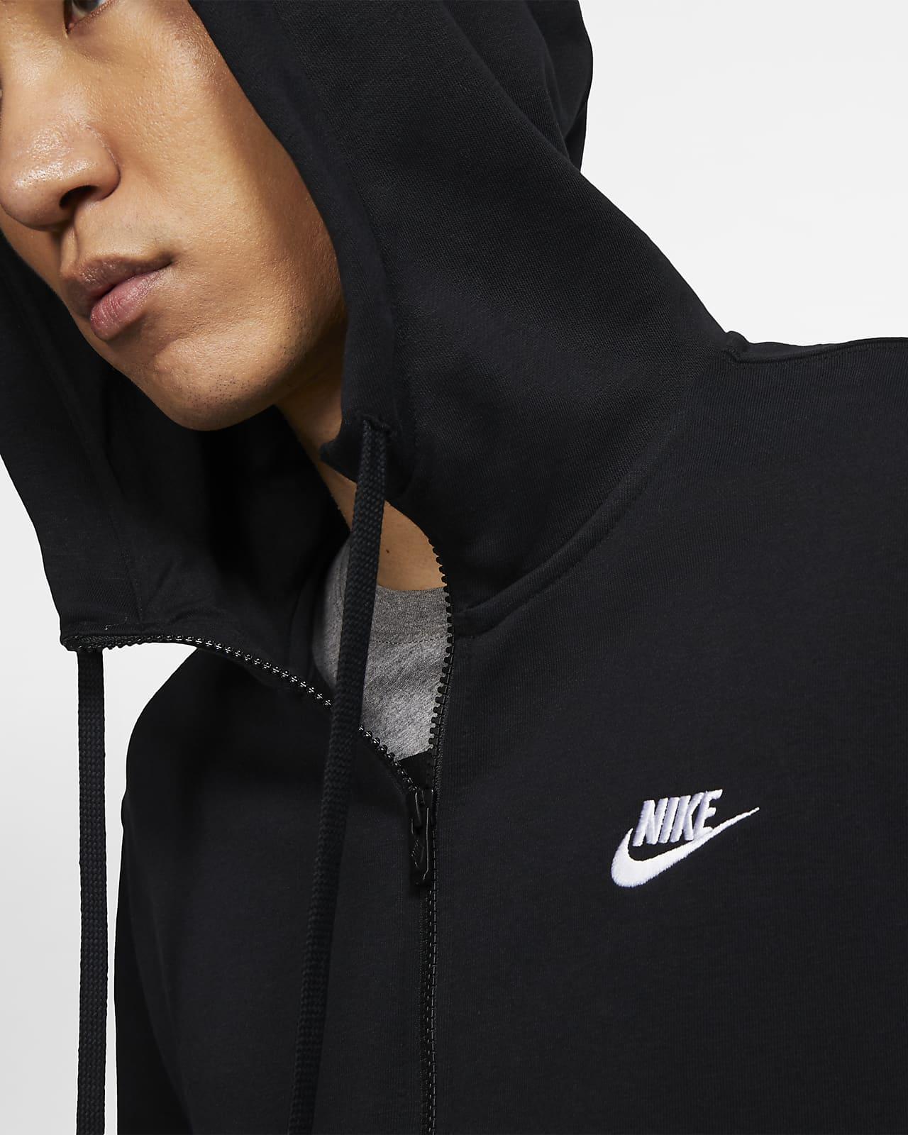 Huvtröja Nike Sportswear Club med hel dragkedja för män
