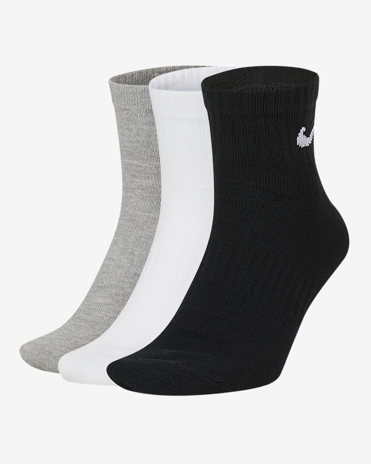 Κάλτσες προπόνησης μέχρι τον αστράγαλο Nike Everyday Lightweight (3 ζευγάρια)