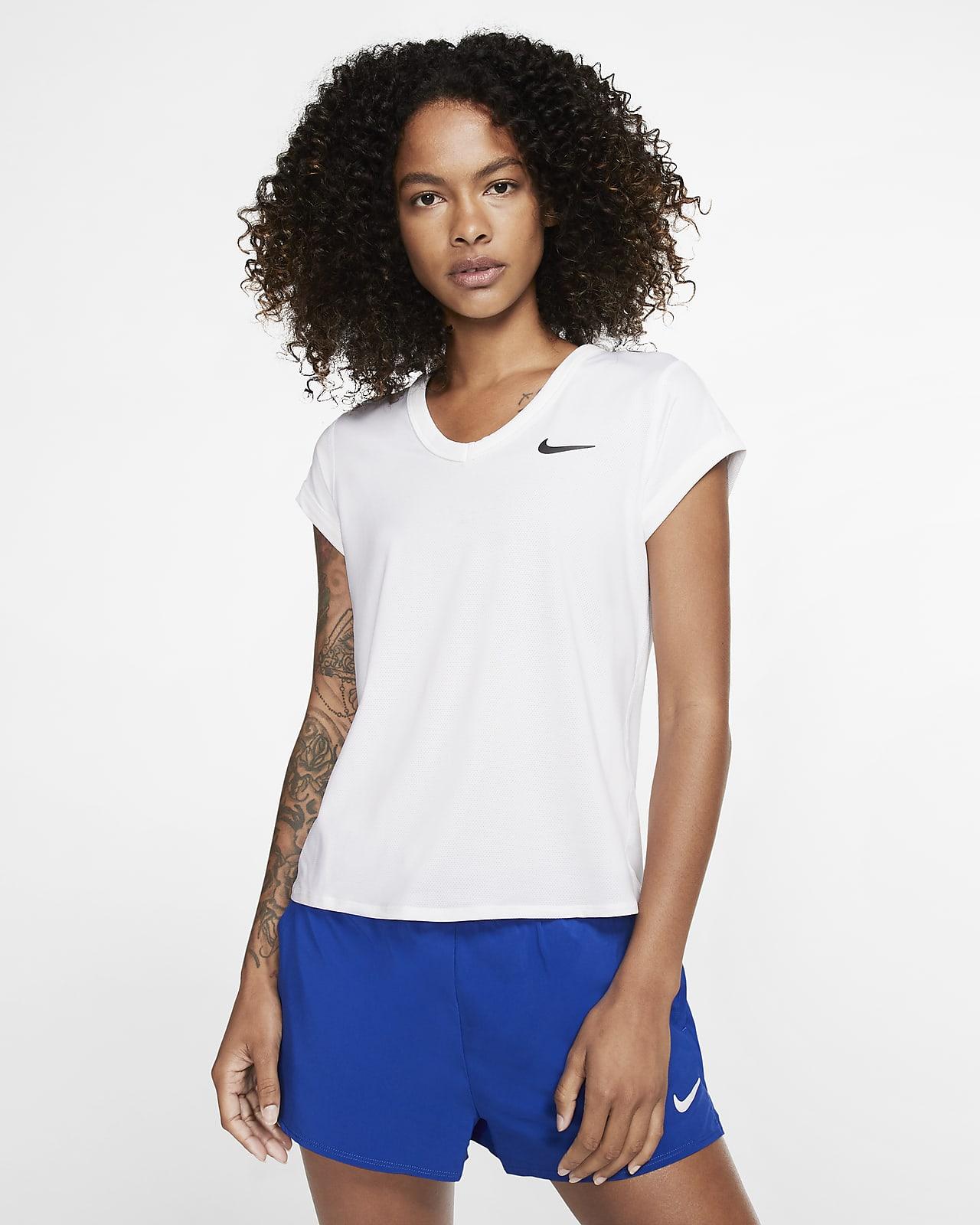 Damska koszulka z krótkim rękawem do tenisa NikeCourt Dri-FIT