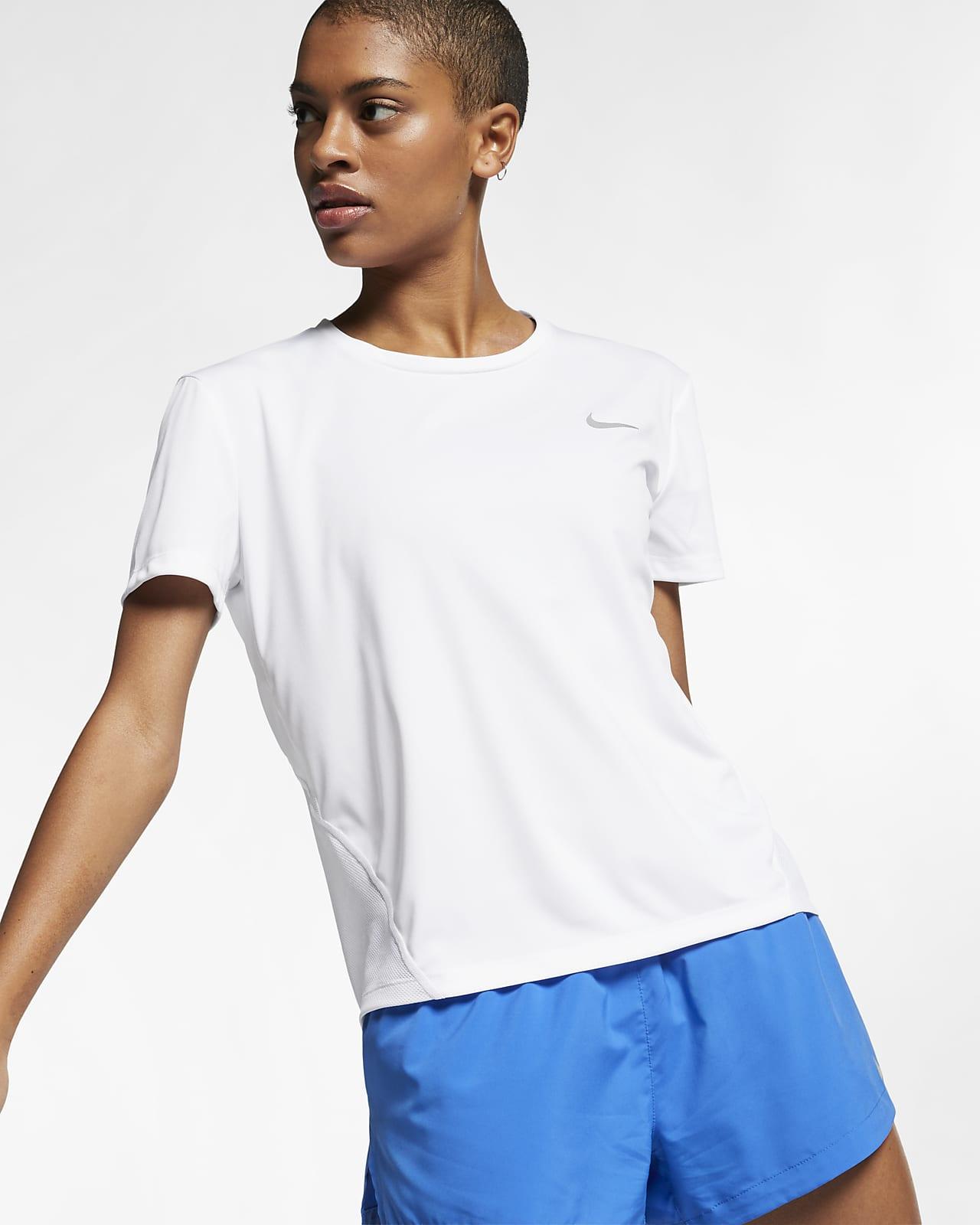 Damska koszulka z krótkim rękawem do biegania Nike Miler