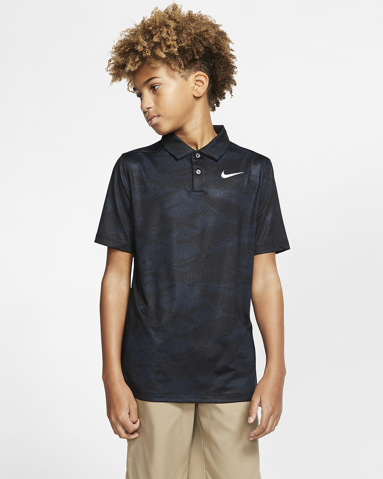Nike Dri-FIT Boys' Printed Golf Polo