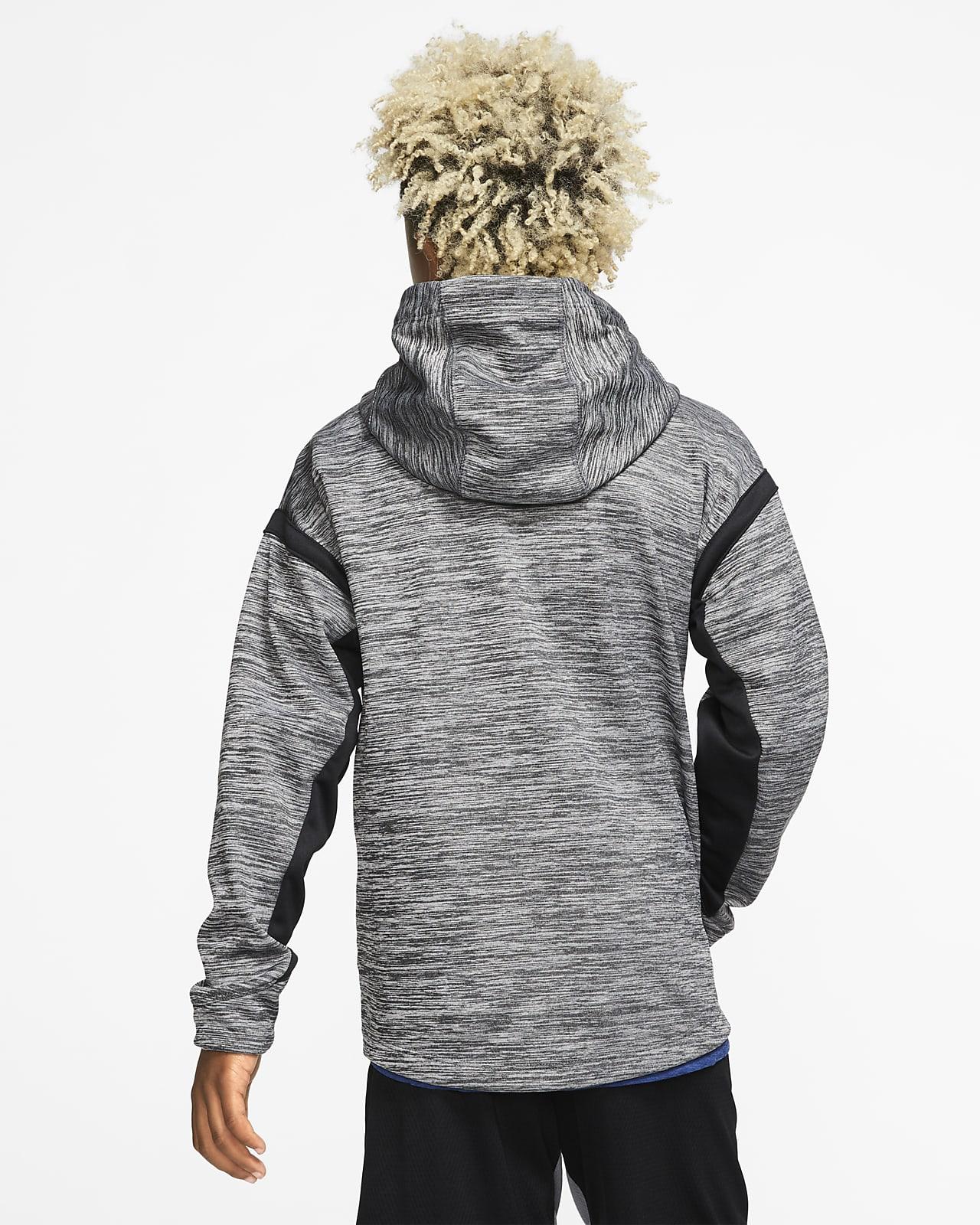 Sweat à capuche de training à zip et à motif Nike Therma pour Garçon plus âgé