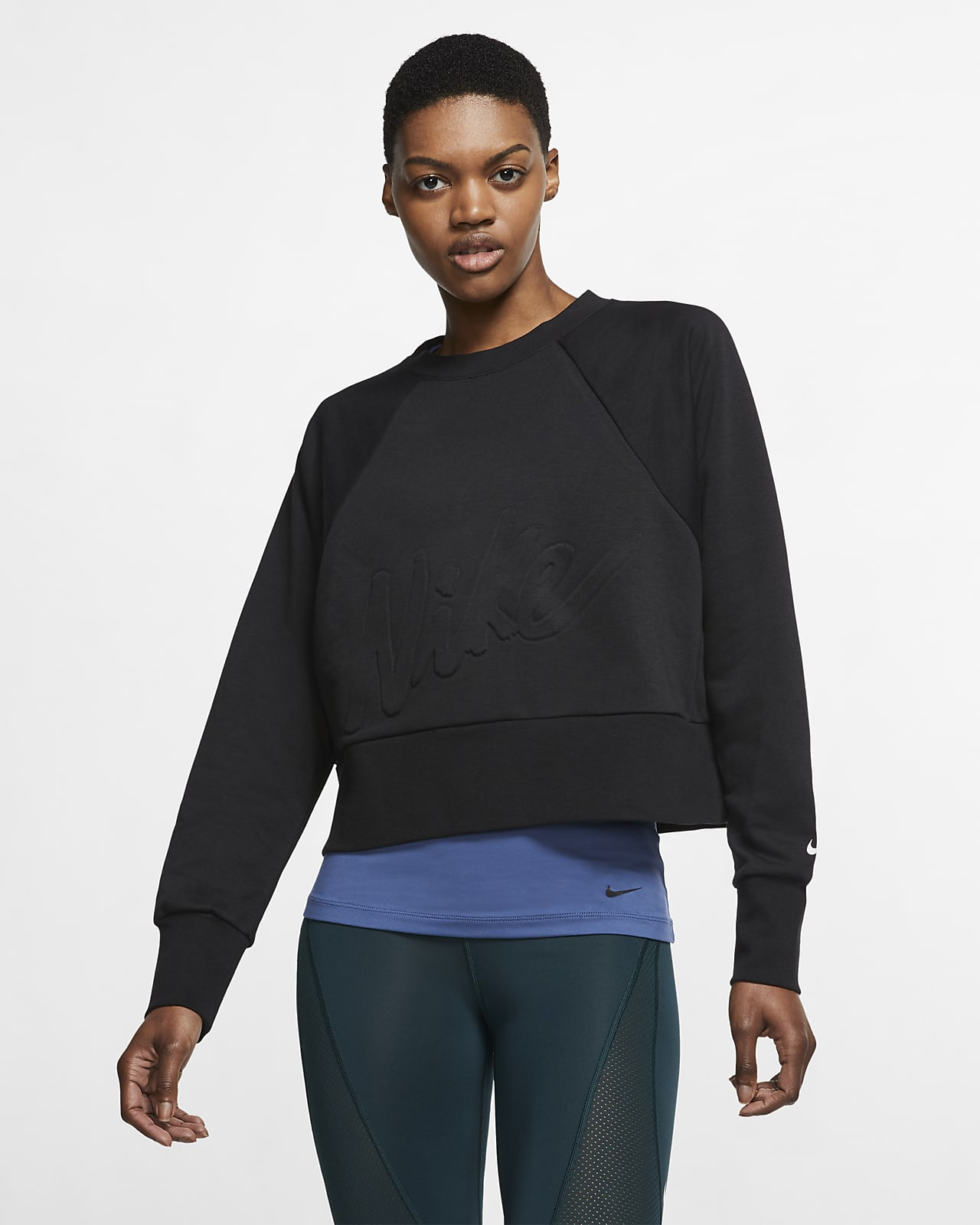 Nike Dri-FIT Get Fit 女款 Fleece 訓練貼身圓領