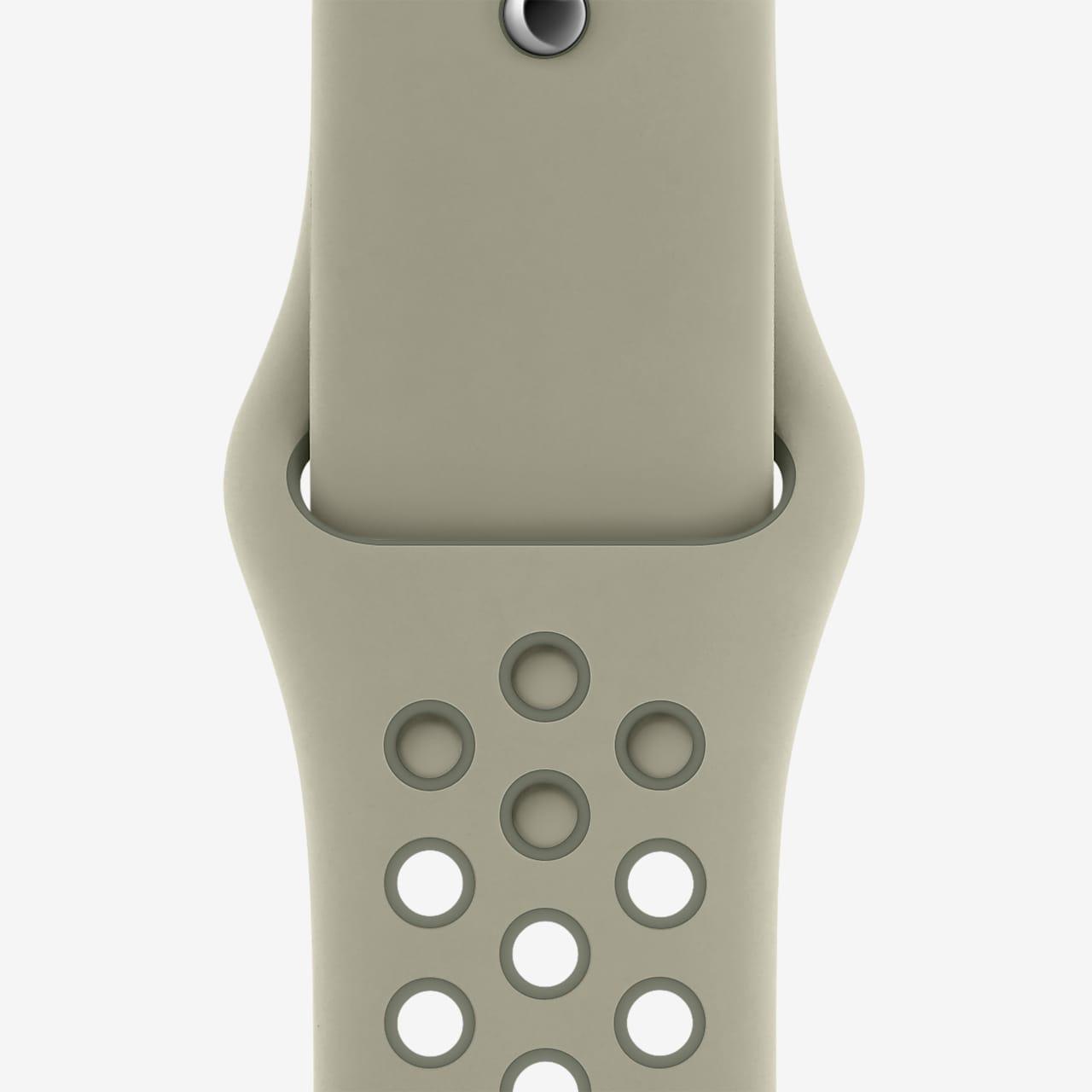 44 毫米云杉雾色/复古苔绿 Nike 运动表带 - 标准号