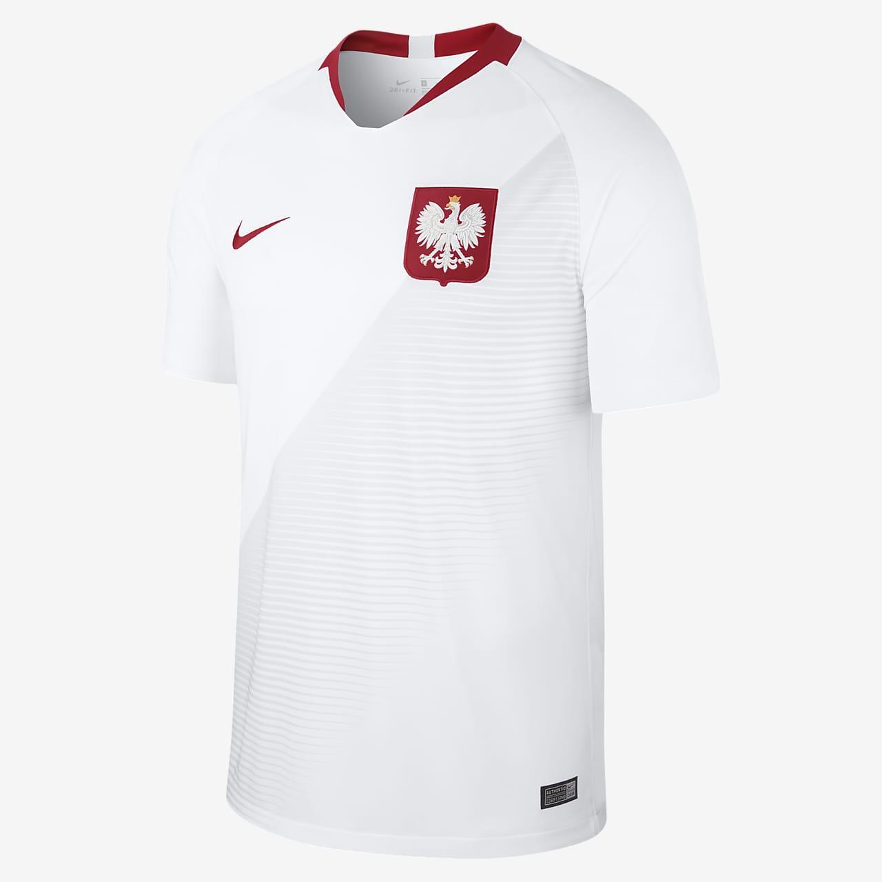 2018 Polen Stadium Home Herren-Fußballtrikot