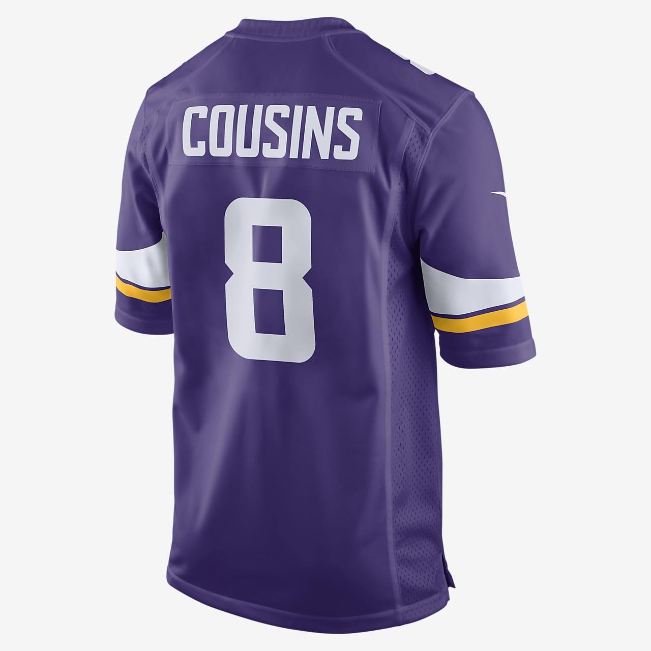 NFL Minnesota Vikings Game Jersey (Kirk Cousins) Men's Football Jersey