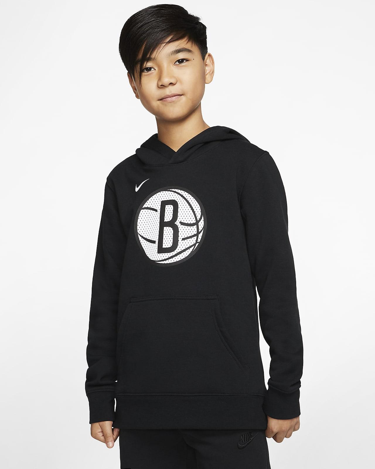 Sweat à capuche Nike NBA Brooklyn Nets Logo pour Enfant plus âgé