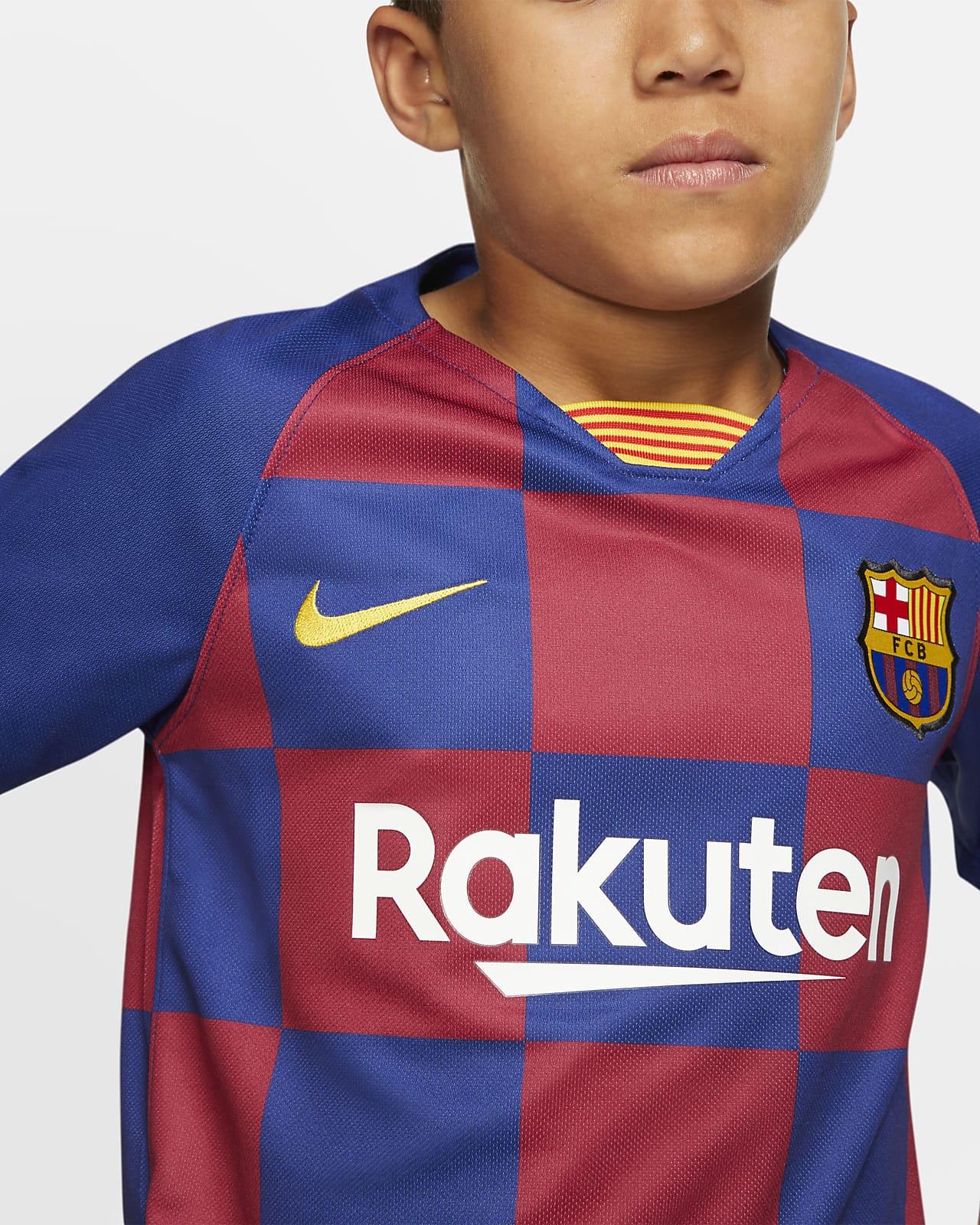 Fc Barcelona 2019 20 Stadium Home Big Kids Soccer Jersey Nike Com