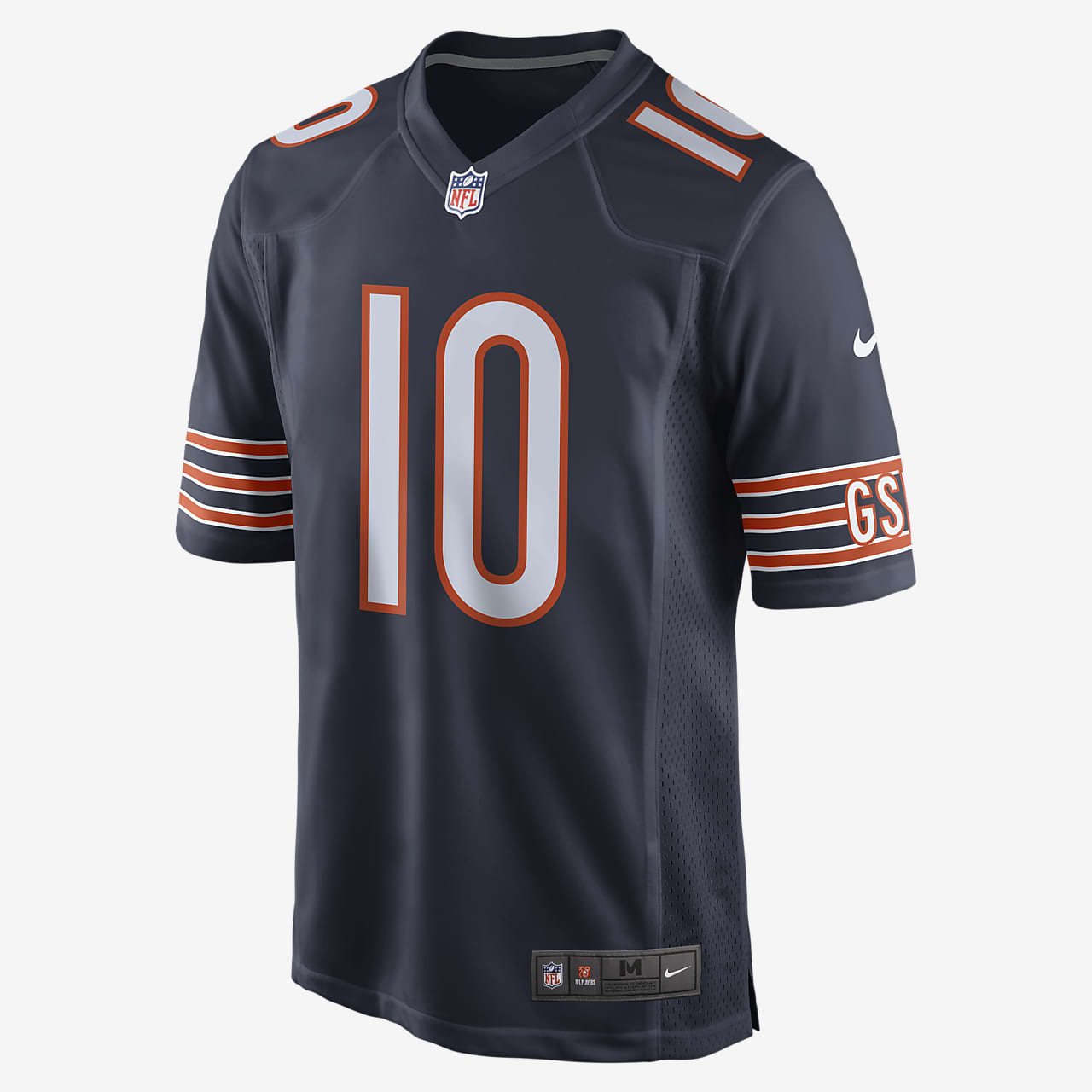 NFL Chicago Bears (Mitchell Trubisky) Men's Game Football Jersey