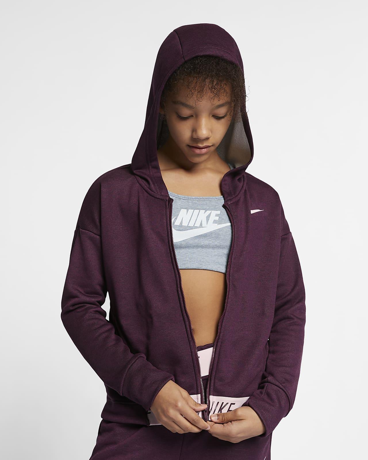 Felpa da training con cappuccio e zip a tutta lunghezza Nike - Ragazza