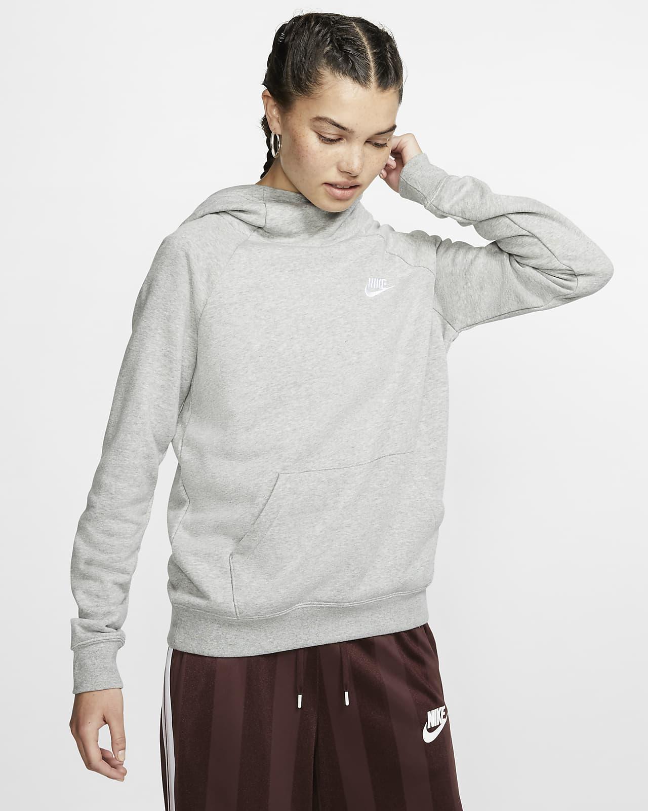 Sweat à capuche en tissu Fleece à col cheminée Nike Sportswear Essential pour Femme