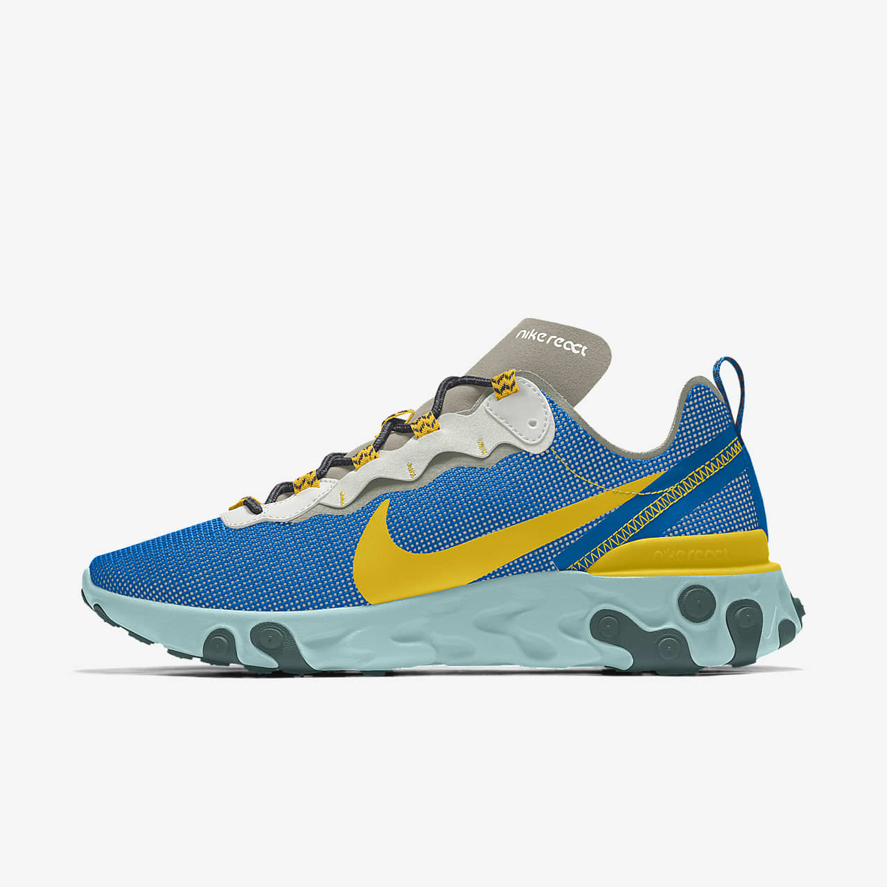 Specialdesignad sko Nike React Element 55 Premium By You för män