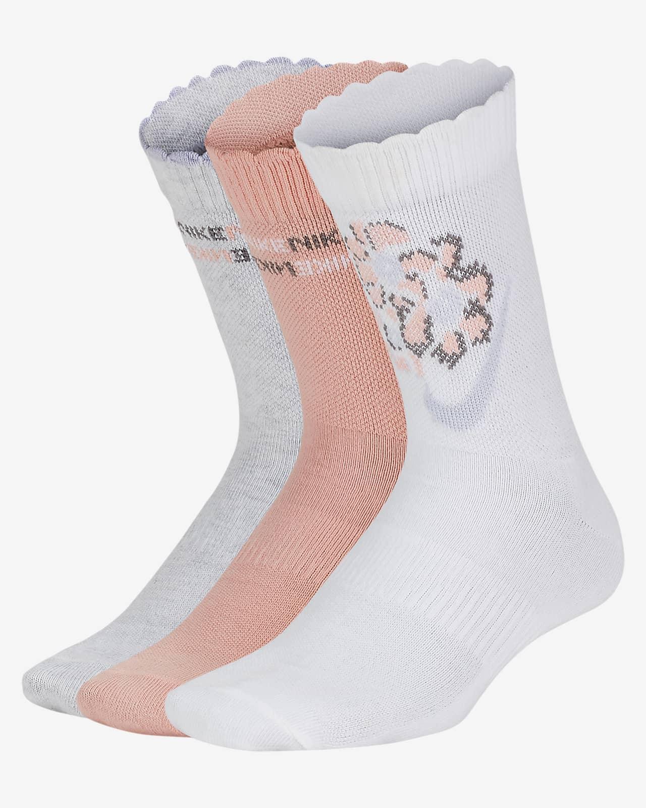 Nike Everyday Lightweight Kids' Crew Socks (3 Pair)