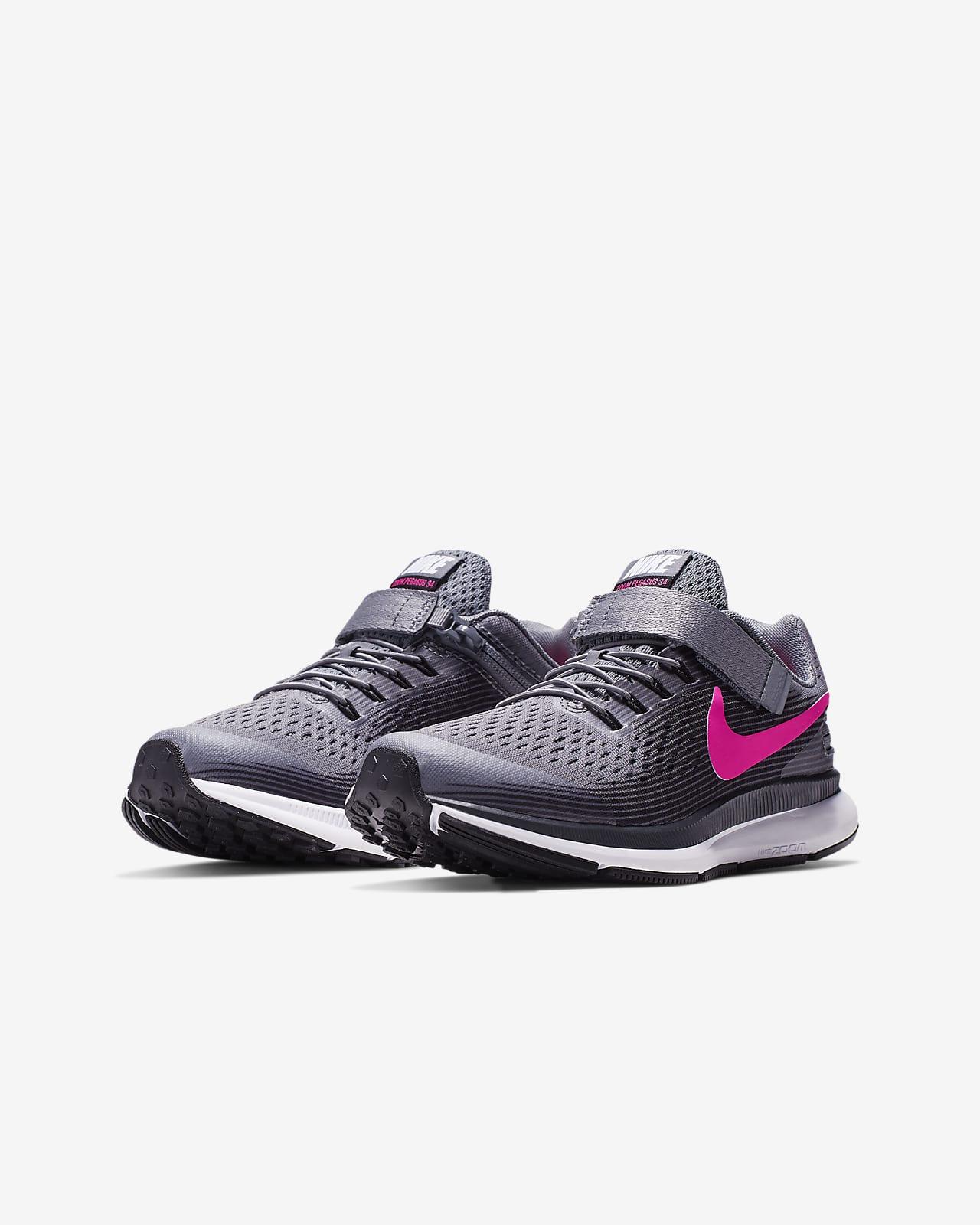 Nike Zoom Pegasus 34 FlyEase Little/Big
