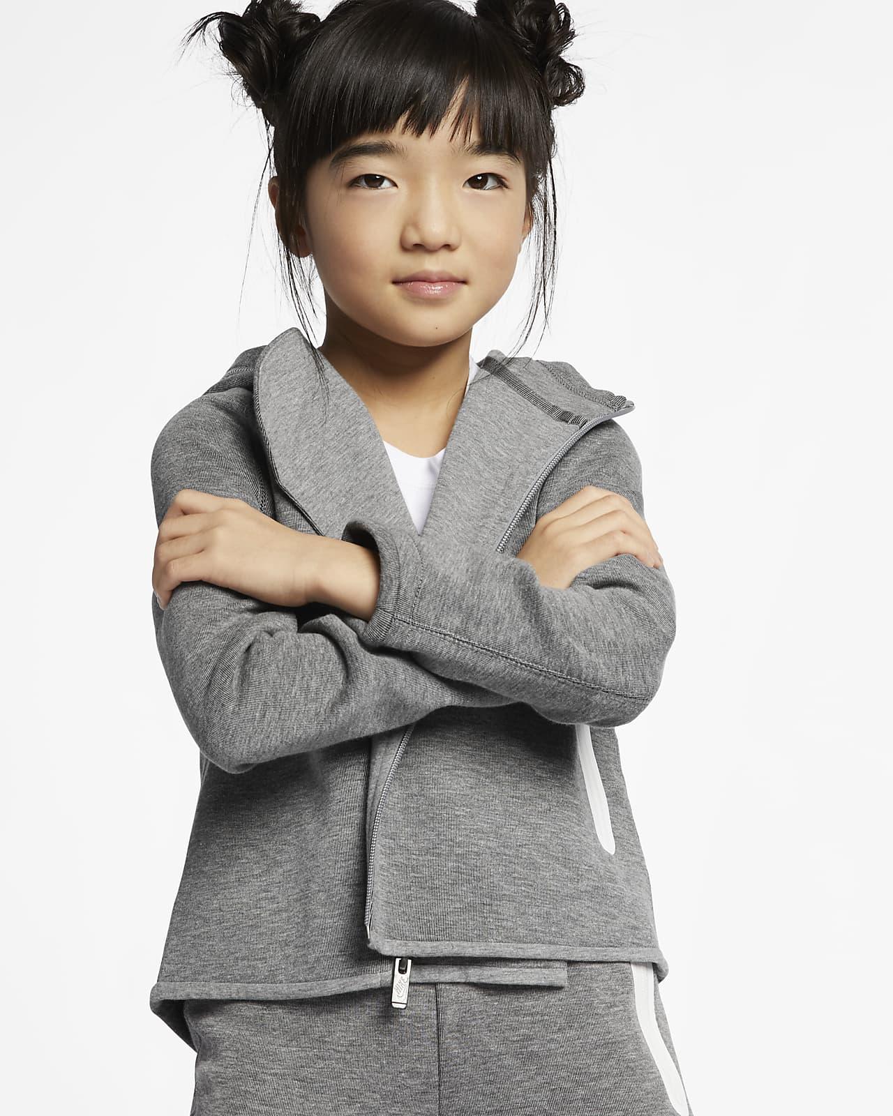 Nike Sportswear Tech Fleece Hoodie mit durchgehendem Reißverschluss für jüngere Kinder