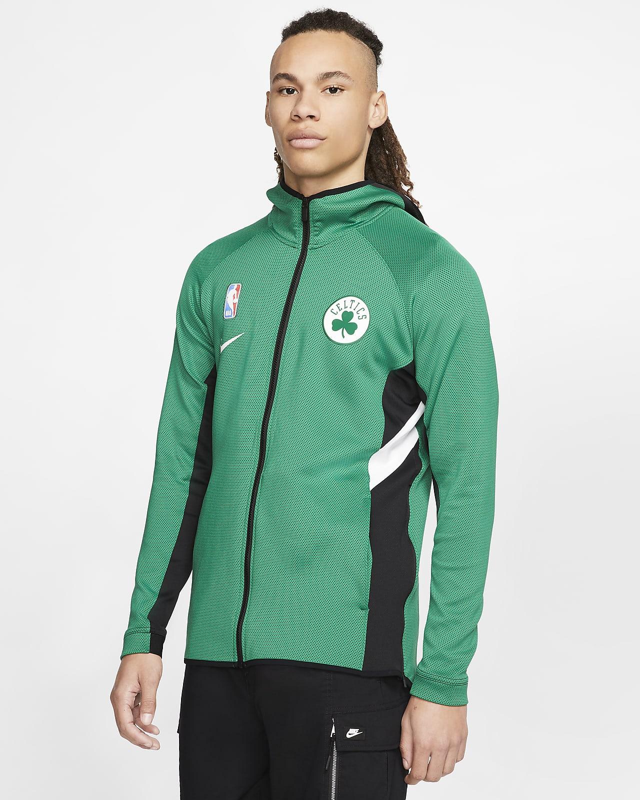 Męska bluza z kapturem NBA Boston Celtics Nike Therma Flex Showtime