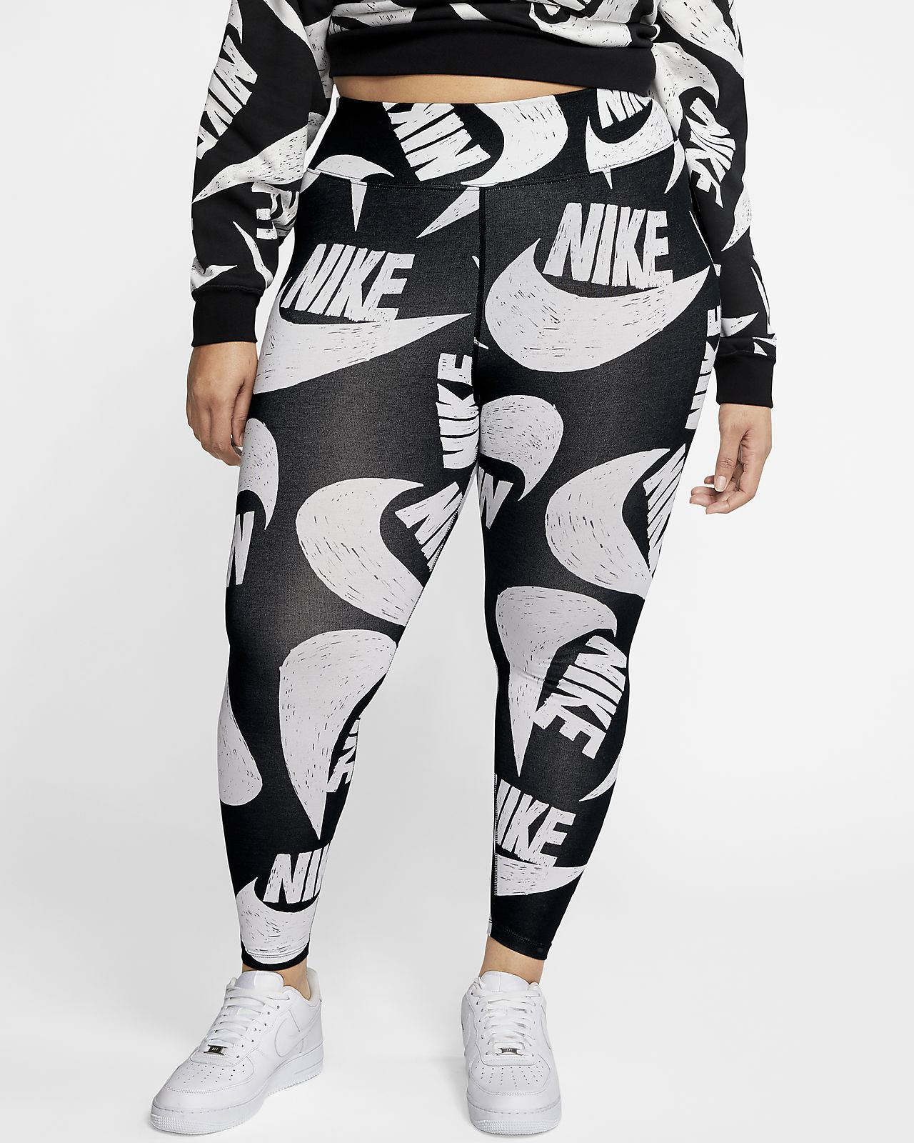 Nike Sportswear Icon Clash Women's Printed Leggings (Plus Size)