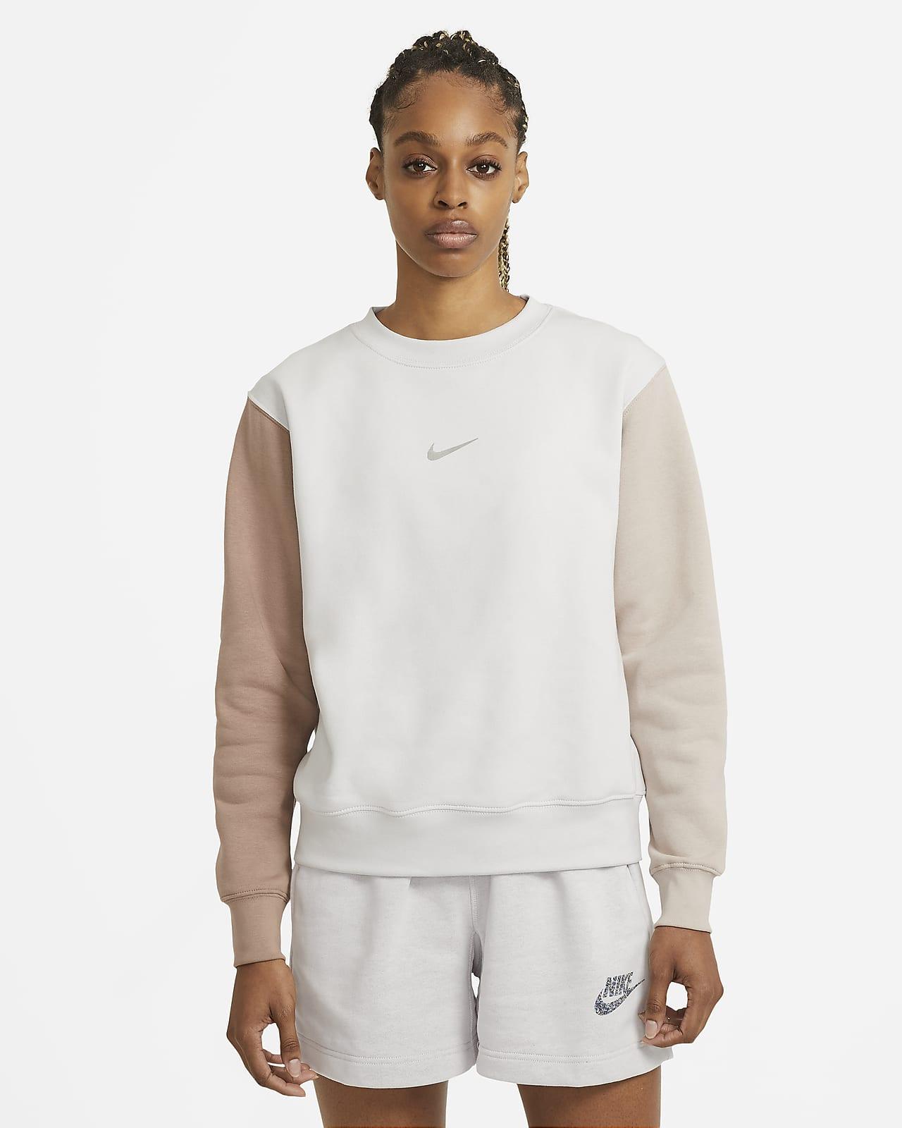 Tröja med rundad hals Nike Sportswear Swoosh för kvinnor