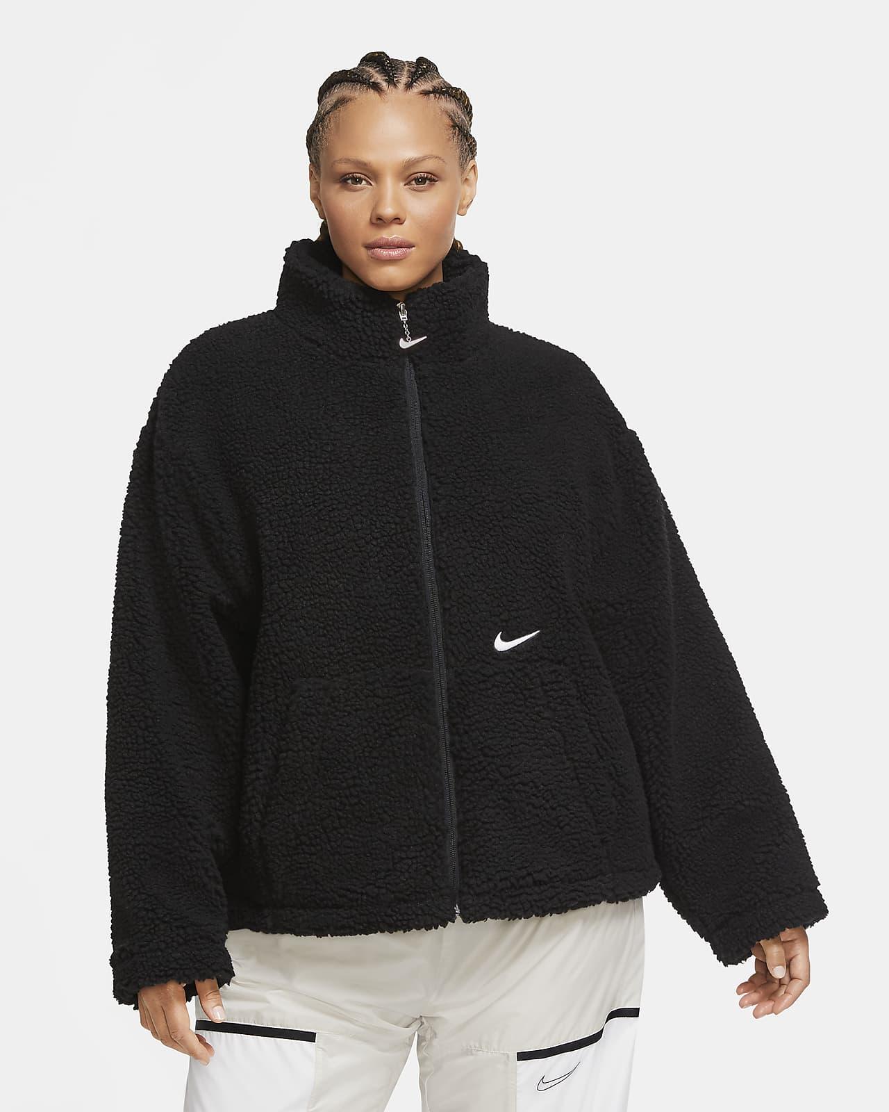 Veste en sherpa Nike Sportswear Swoosh pour Femme (grande taille)