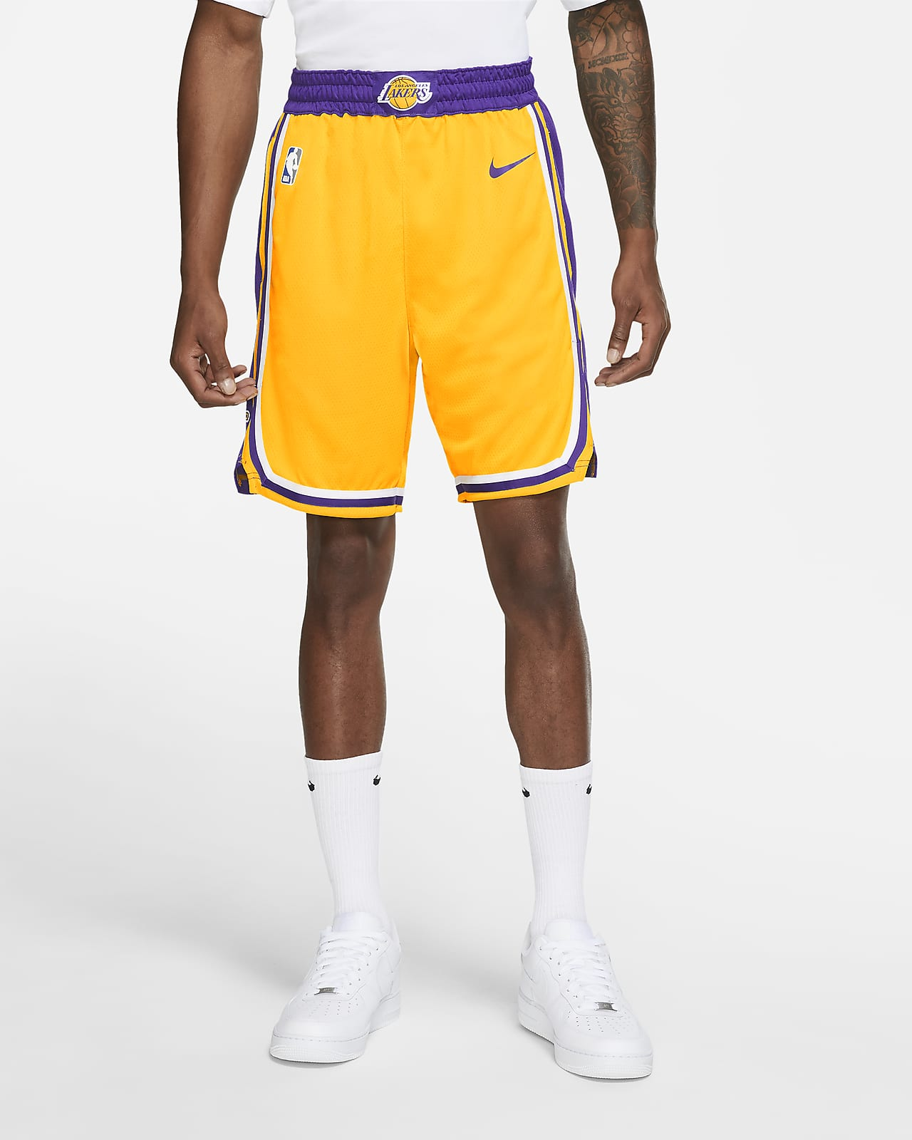 Los Angeles Lakers Icon Edition Men's Nike NBA Swingman Shorts