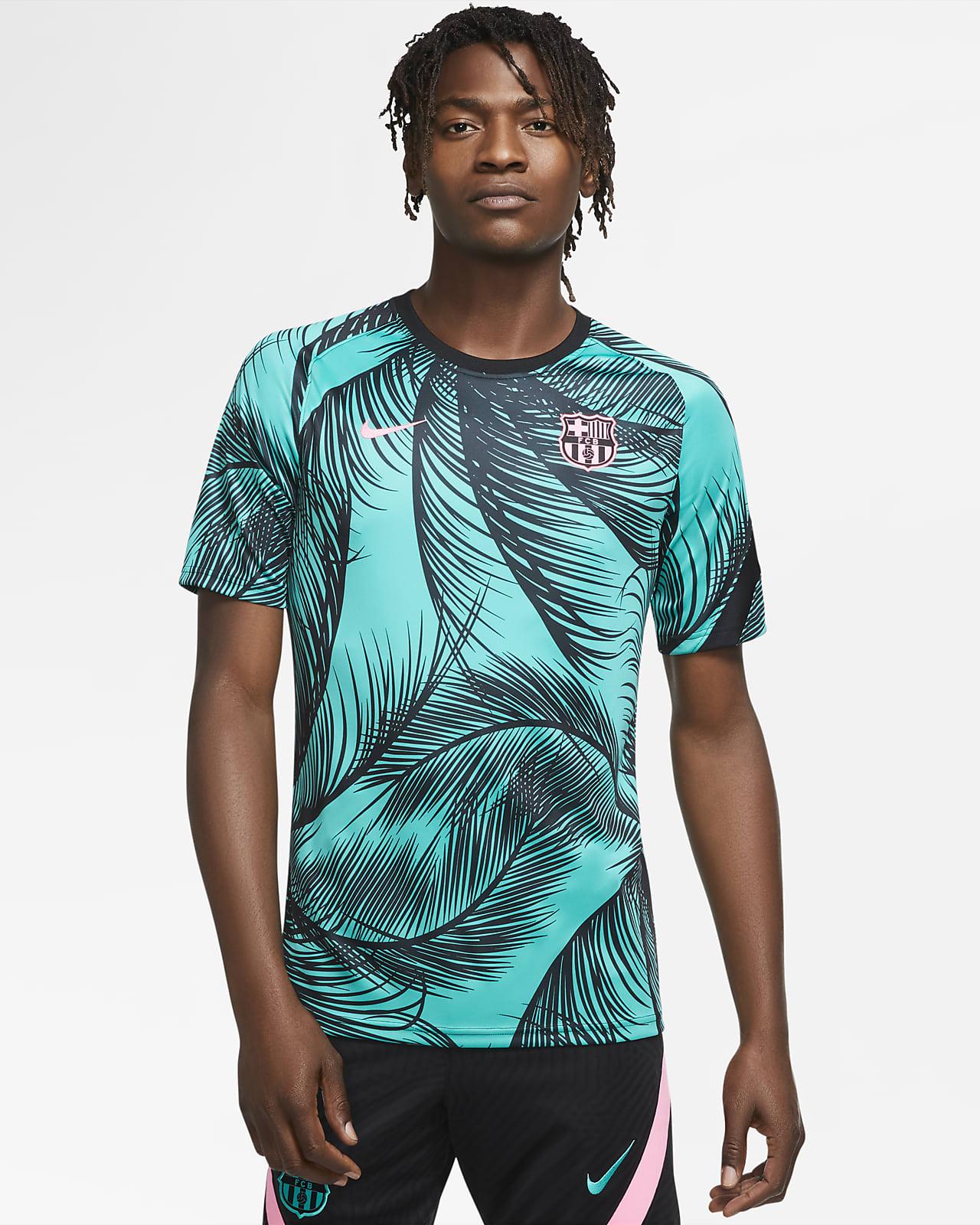 F.C. Barcelona Men's Pre-Match Short-Sleeve Football Top