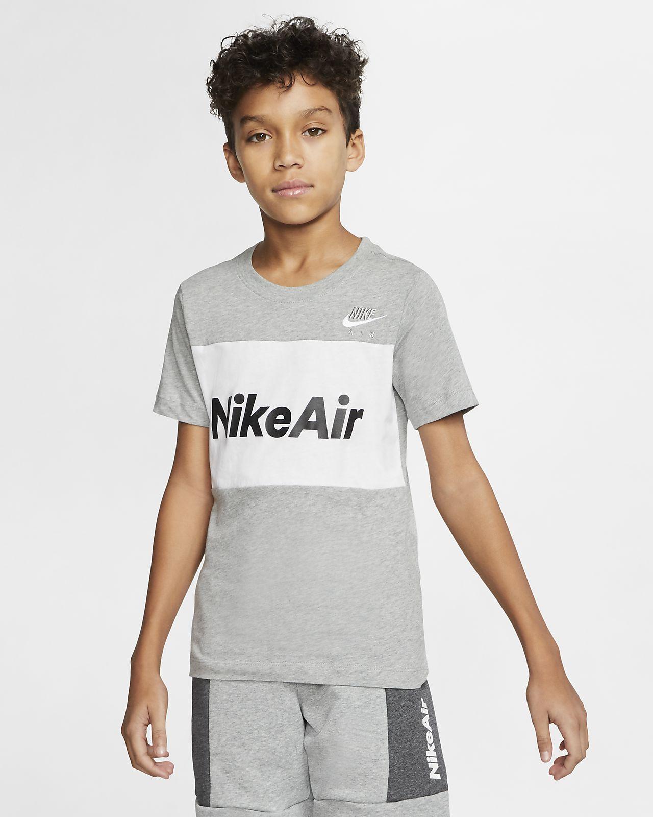tee shirt nike air gris enfant