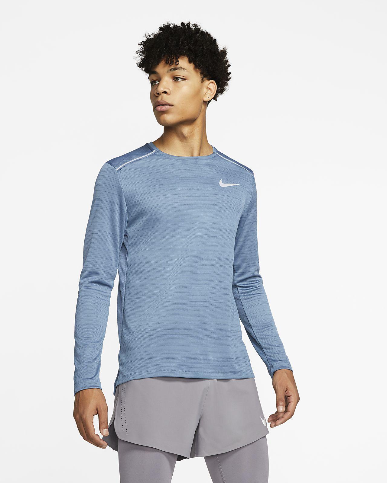 Nike Dri FIT Miler Langarm Laufoberteil für Herren
