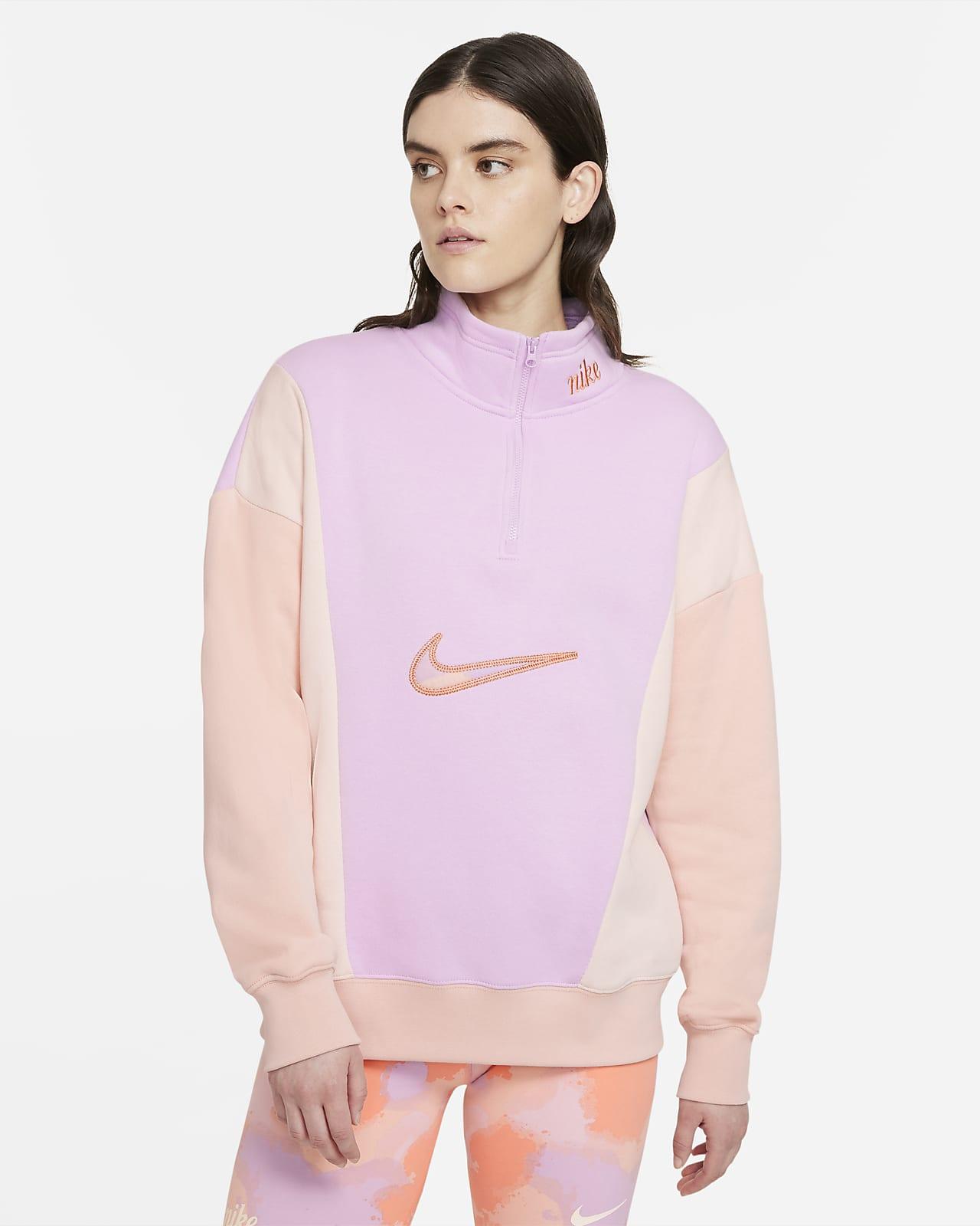 Damska dzianinowa bluza z zamkiem 1/4 Nike Sportswear
