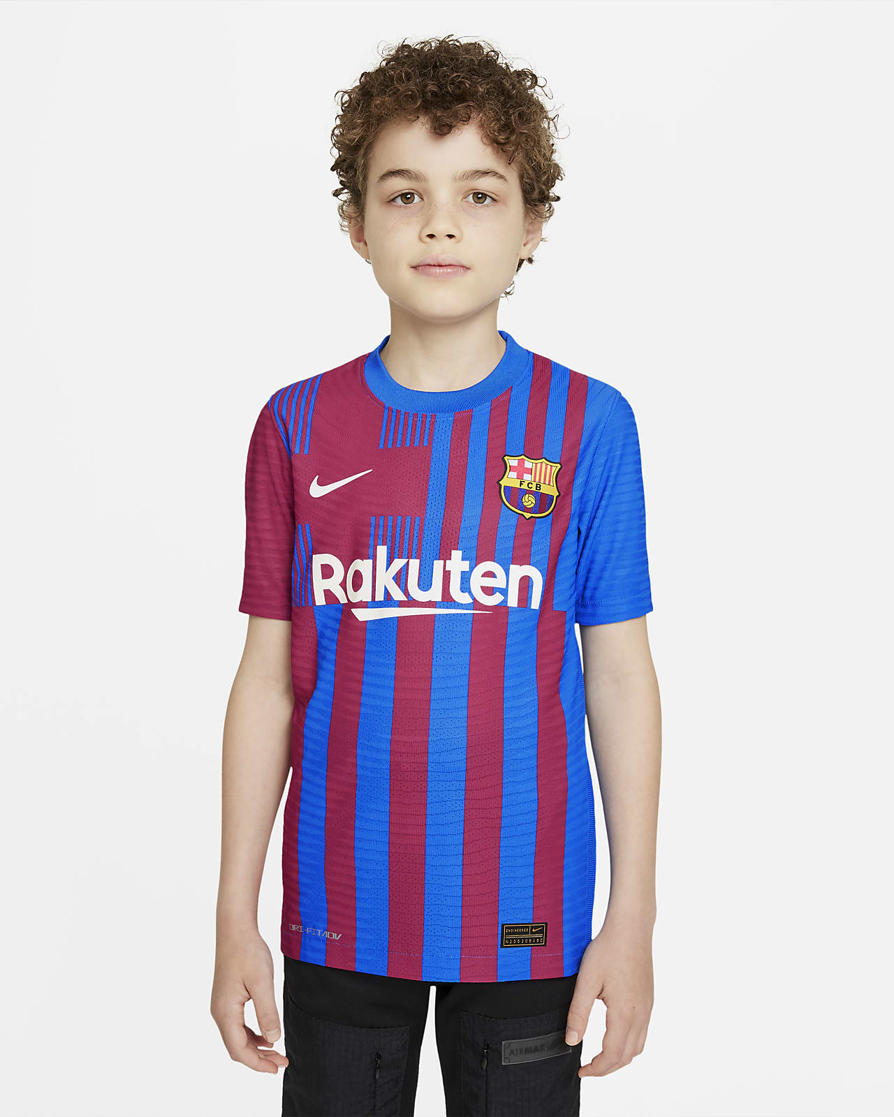 Camiseta de fútbol Nike Dri-FIT ADV para niños talla grande FC Barcelona 2021/22 Match Home