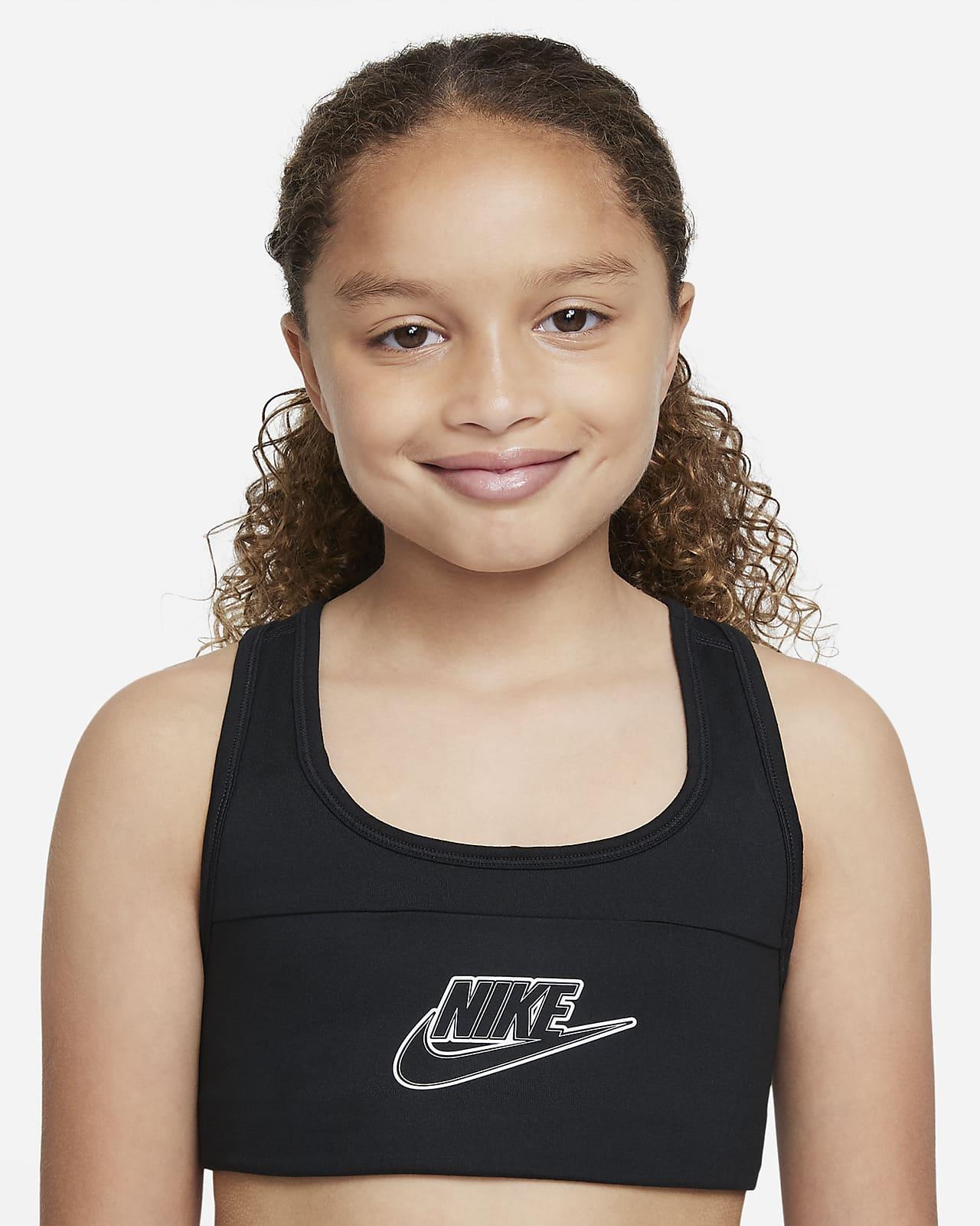 Brassière de sport Nike Dri-FIT Swoosh pour Fille plus âgée