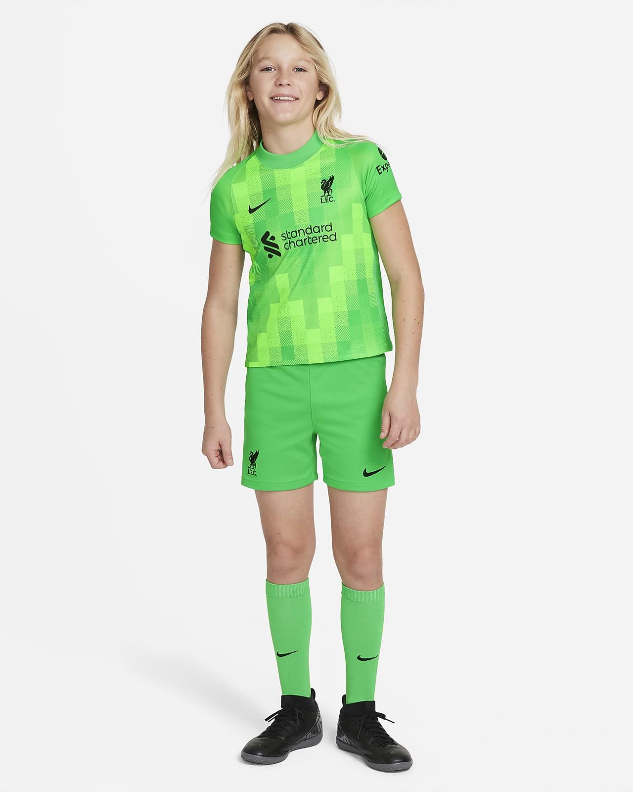 Liverpool FC 2021/22 Goalkeeper fotballdraktsett til små barn