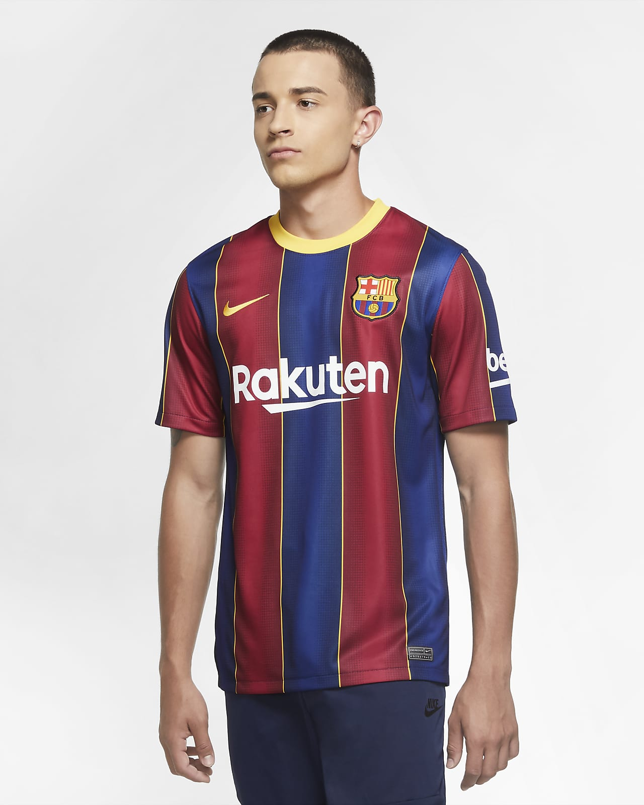 F.C. Barcelona 2020/21 Stadium Home Men's Football Shirt