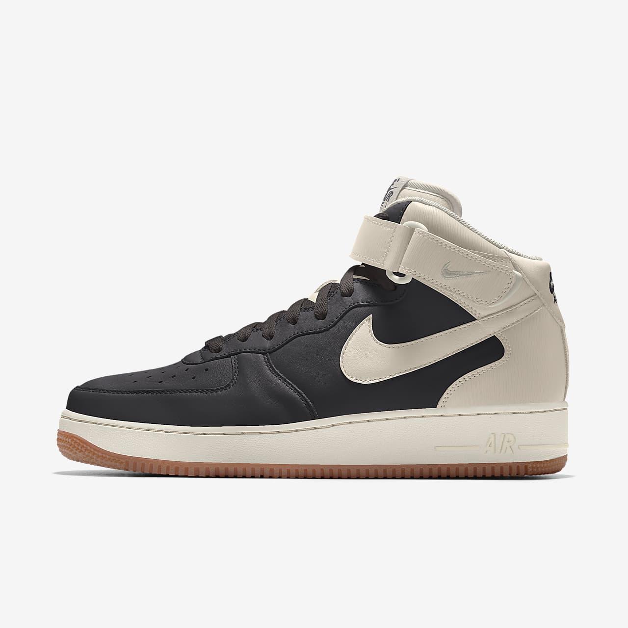 รองเท้าผู้หญิงออกแบบเอง Nike Air Force 1 Mid By You
