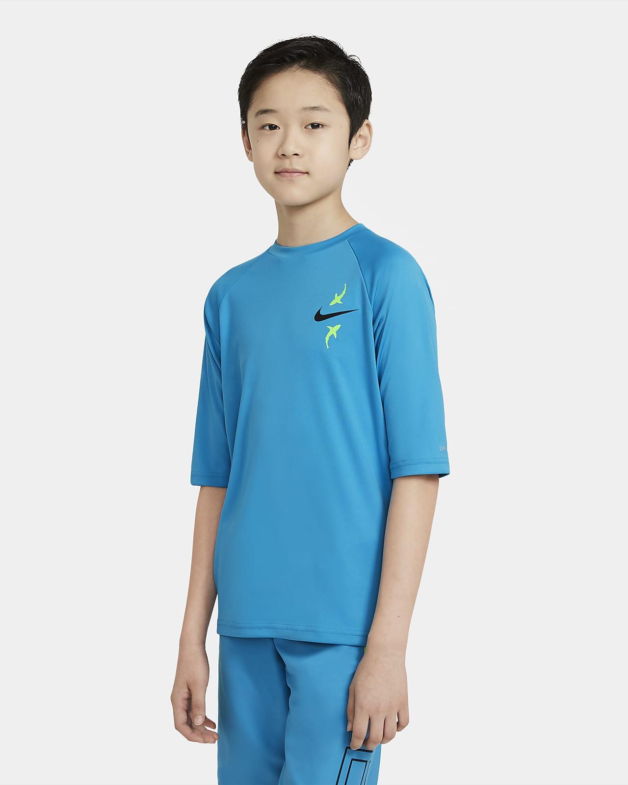 Nike Big Kids' (Boys') Short-Sleeve Hydroguard Swim Shirt
